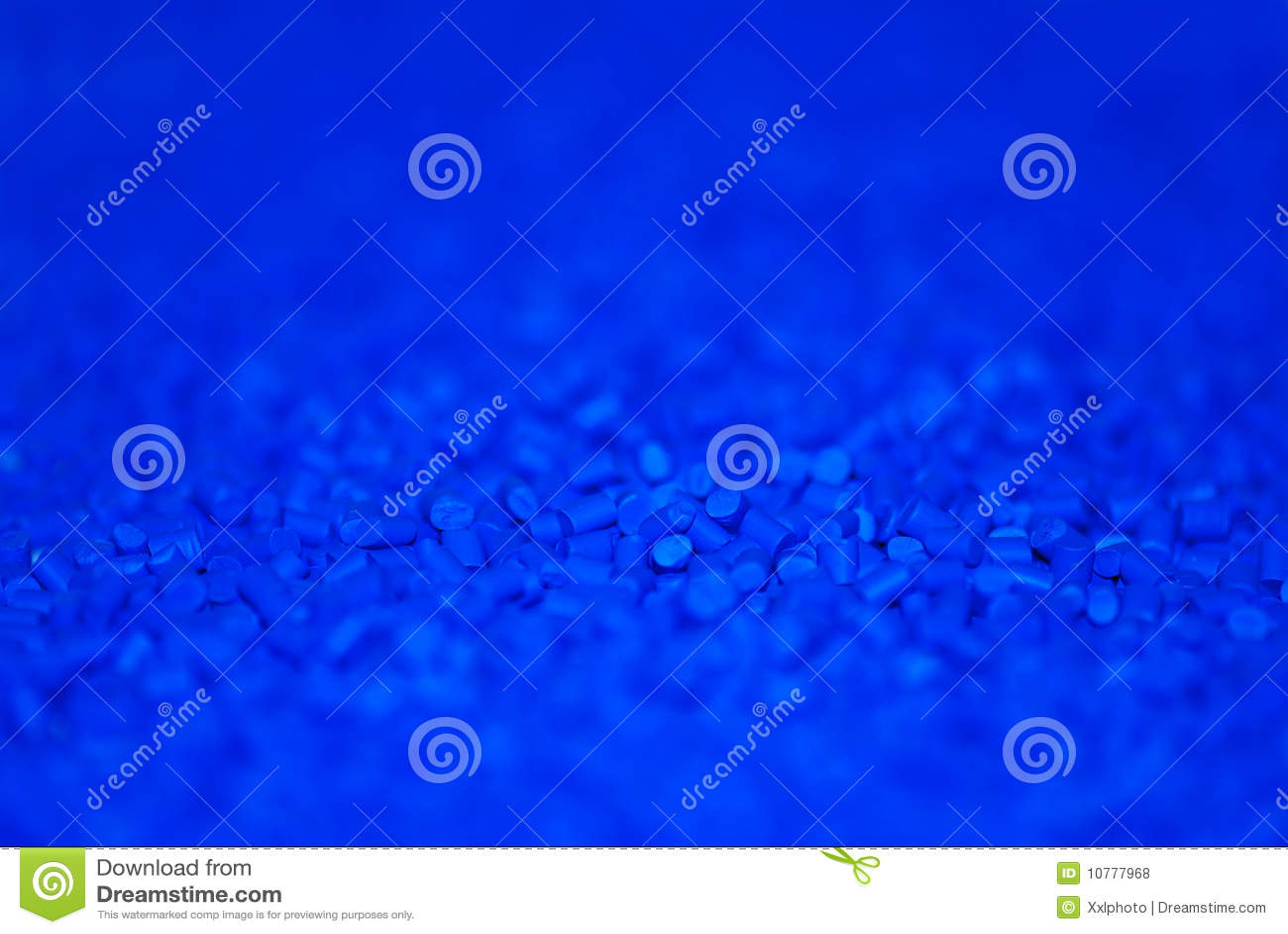 Blauwe thermoplastische hars