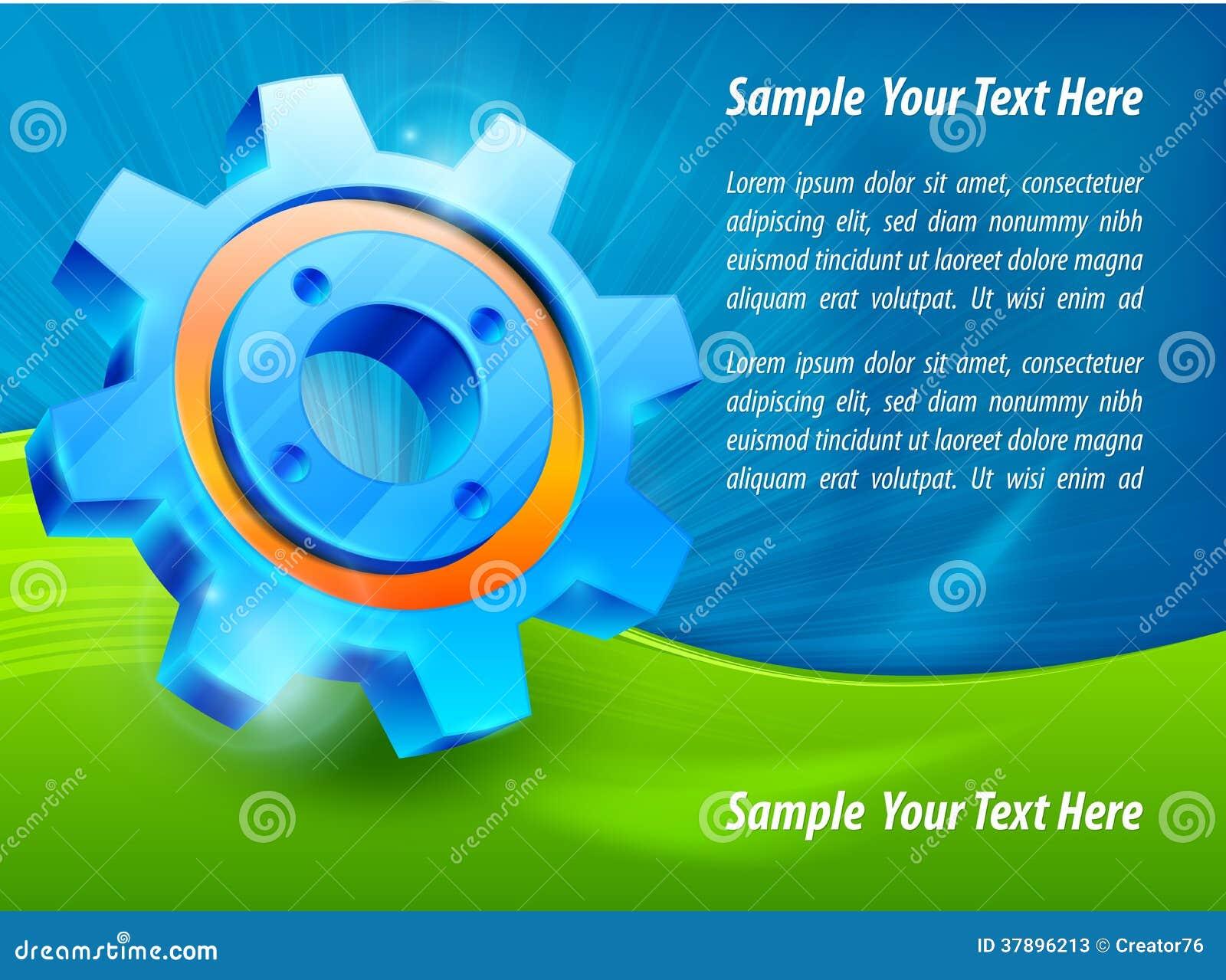 Blauwe toestel & tekst