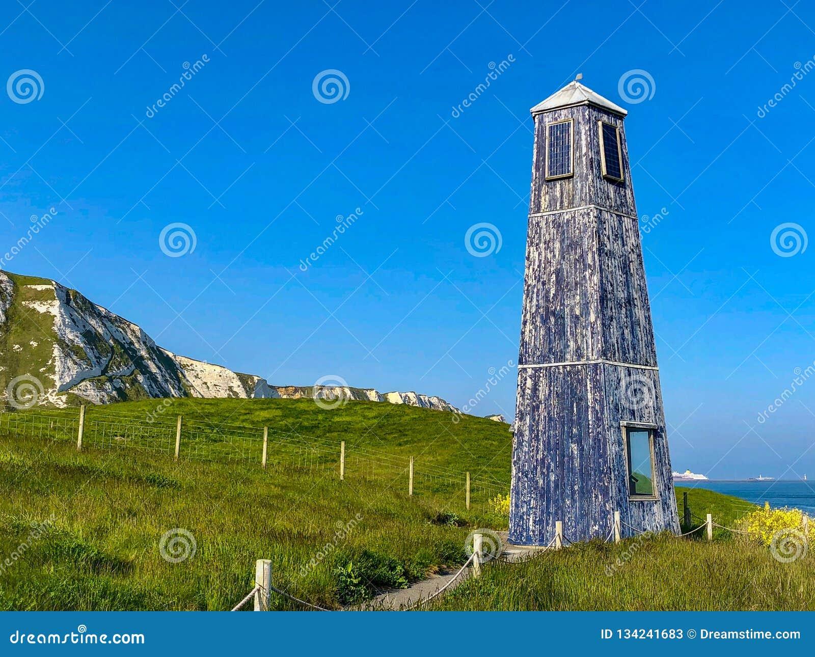 Blauwe Vuurtoren in Dover