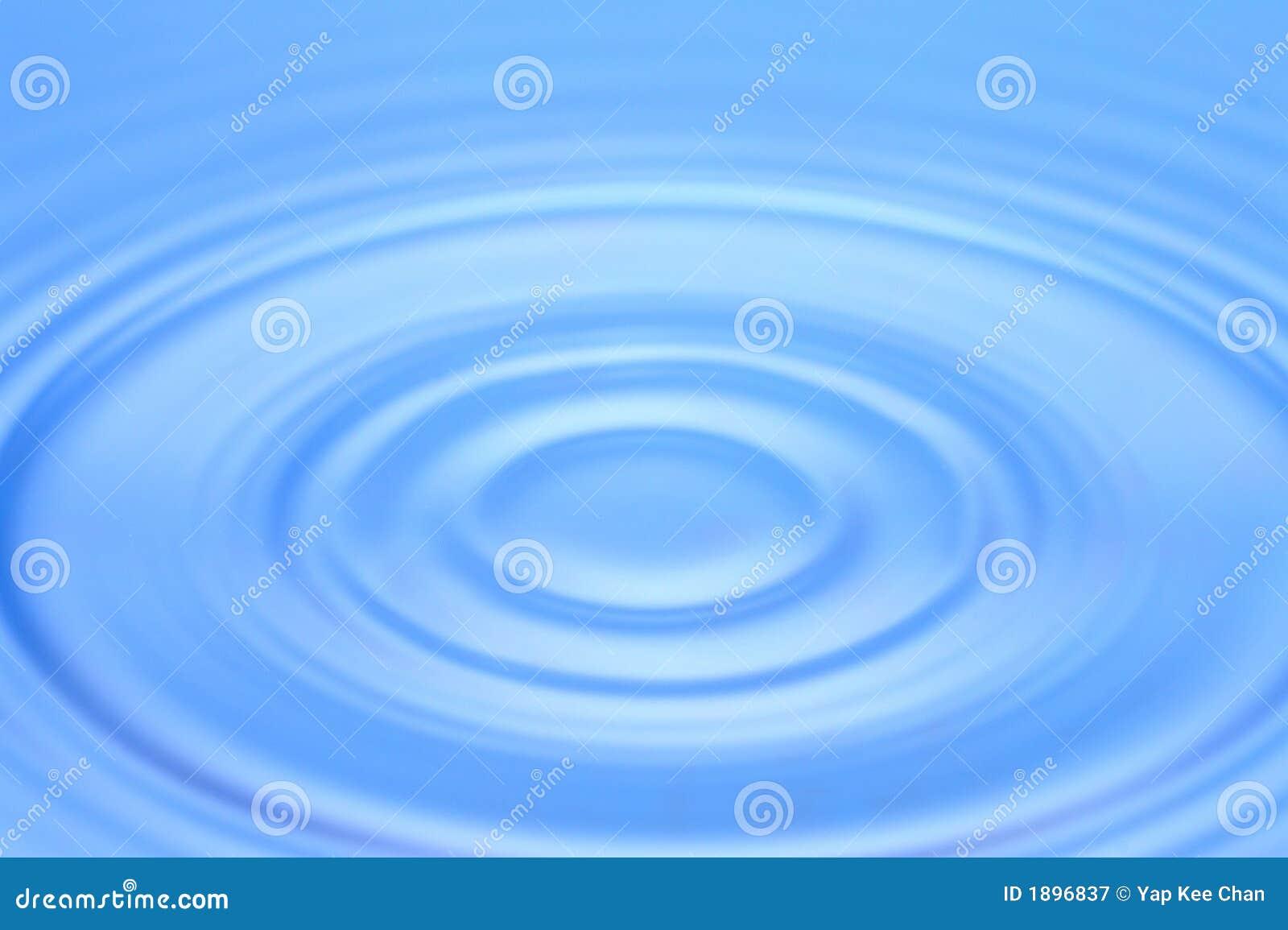 Blauwe waterrimpeling