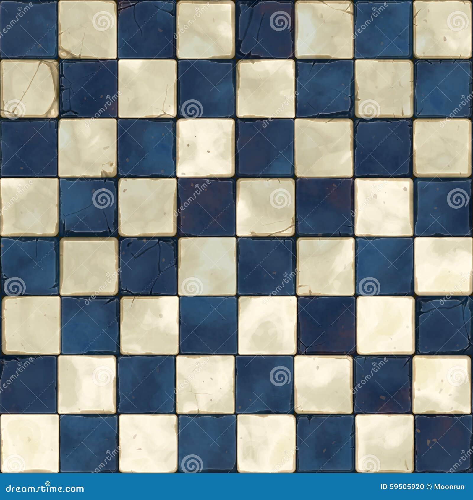 Blauwe witte naadloze tegels