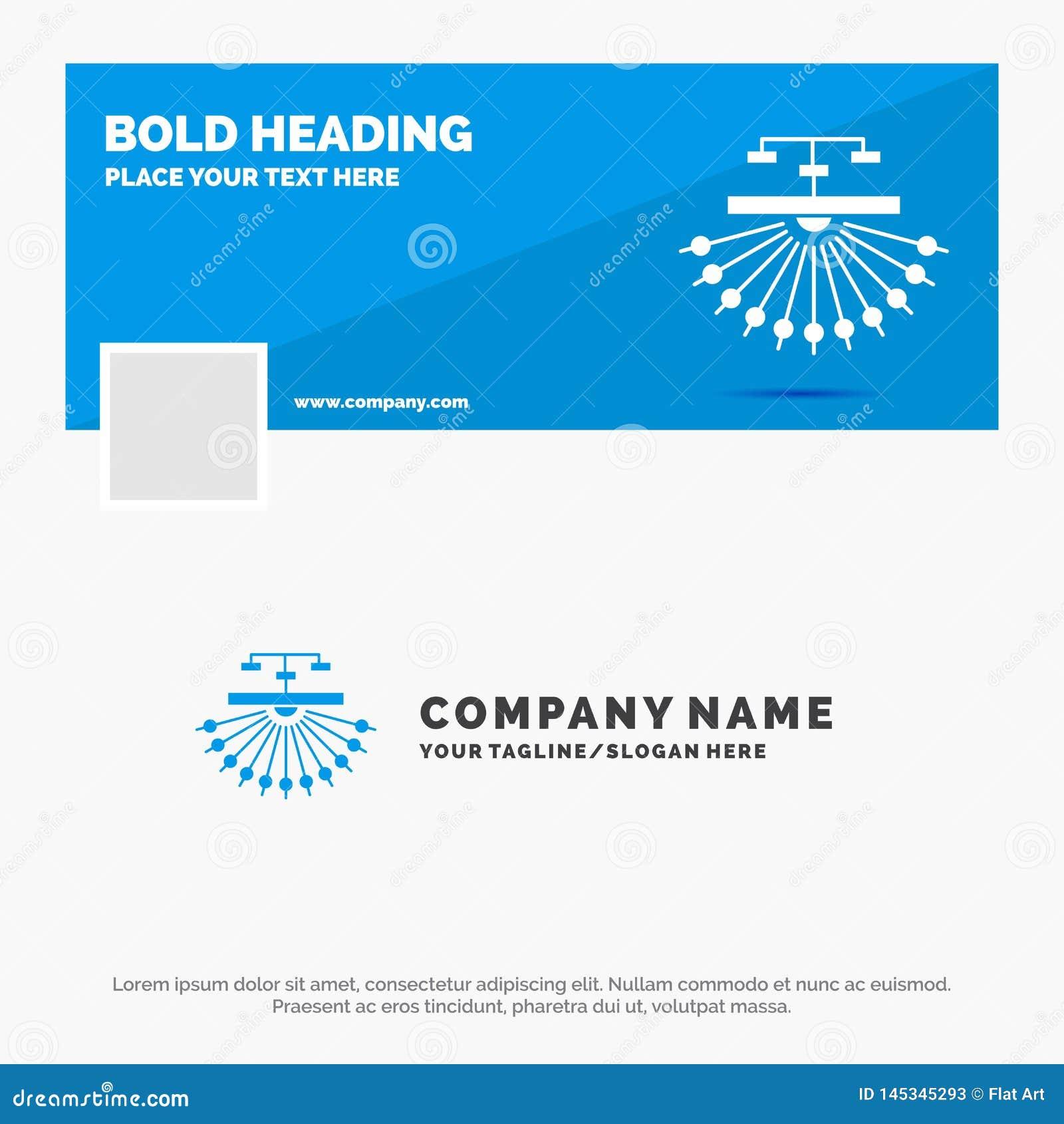 Blauwe Zaken Logo Template voor optimalisering, plaats, plaats, structuur, Web Facebook-het Ontwerp van de Chronologiebanner De v