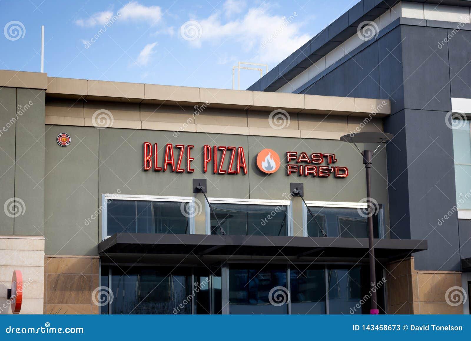 Blaze Pizza-Restaurantzeichen