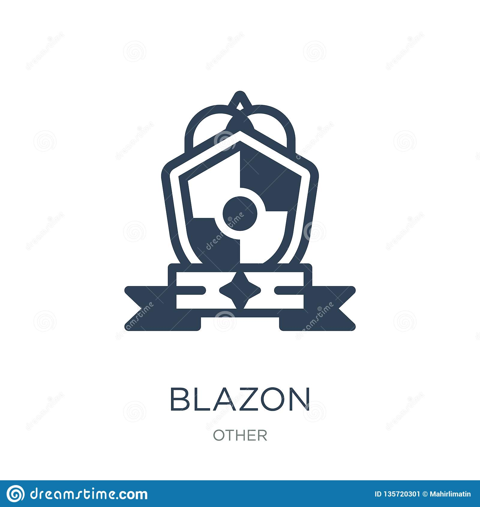 blazon icon in trendy design style. blazon icon isolated on white background. blazon vector icon simple and modern flat symbol for
