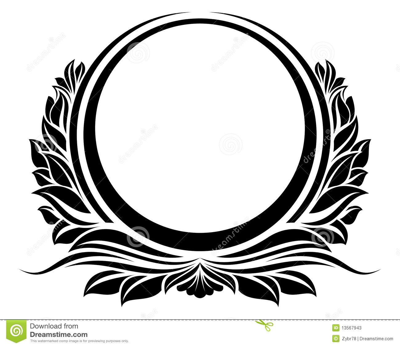 blck vintage circle frame stock photos