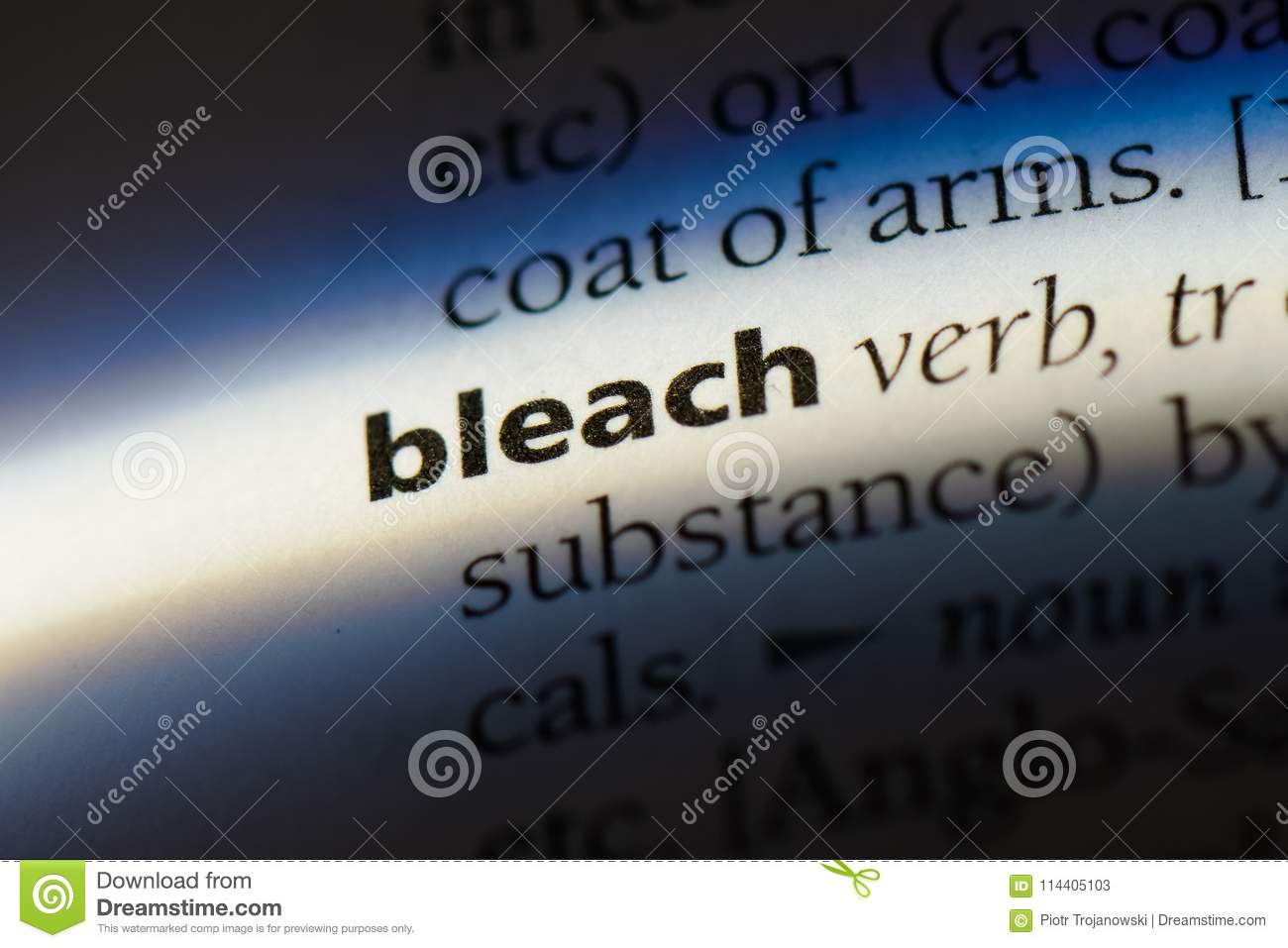 What does the expression bleached mean