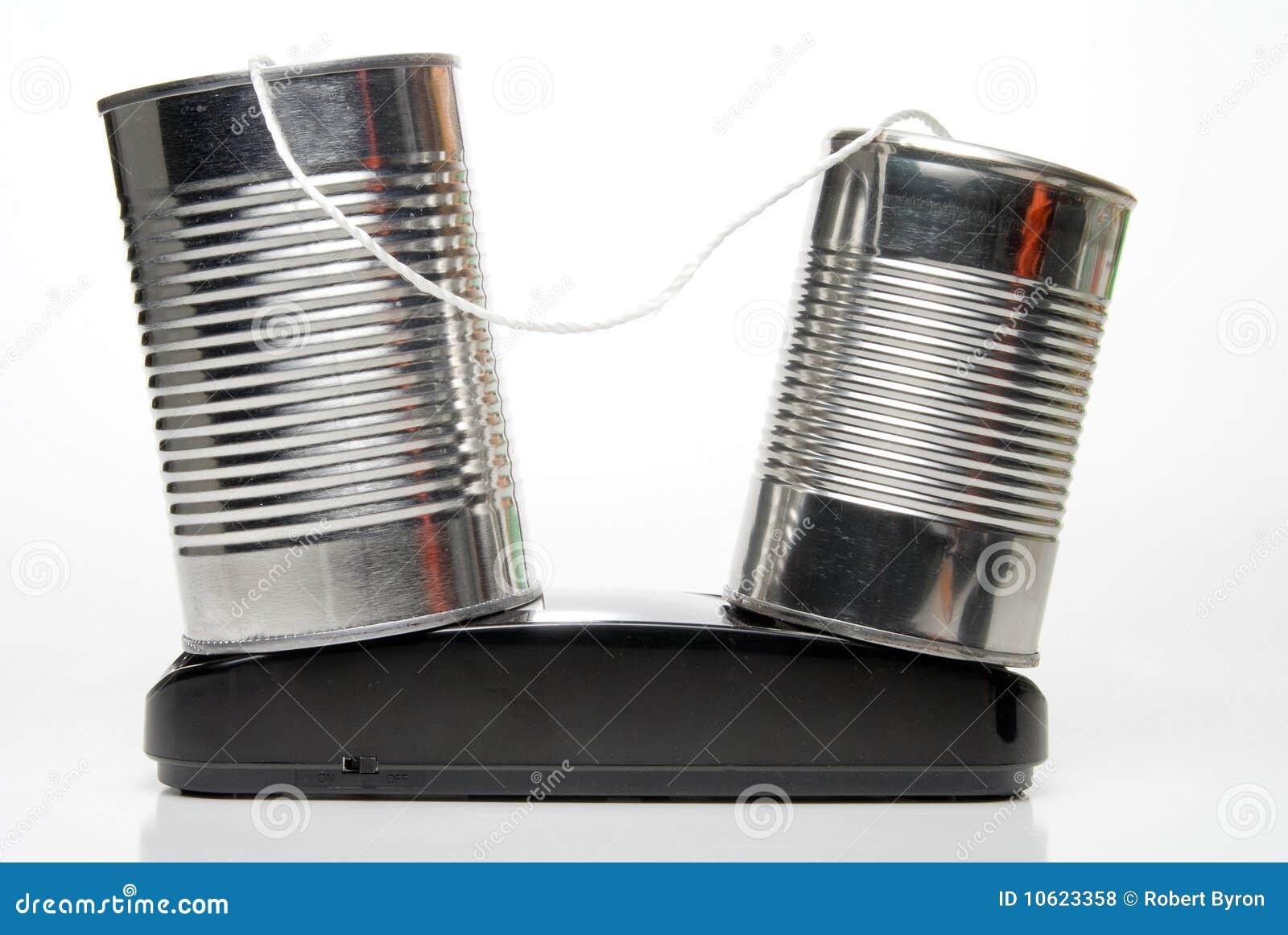 Blechdose-Telefon