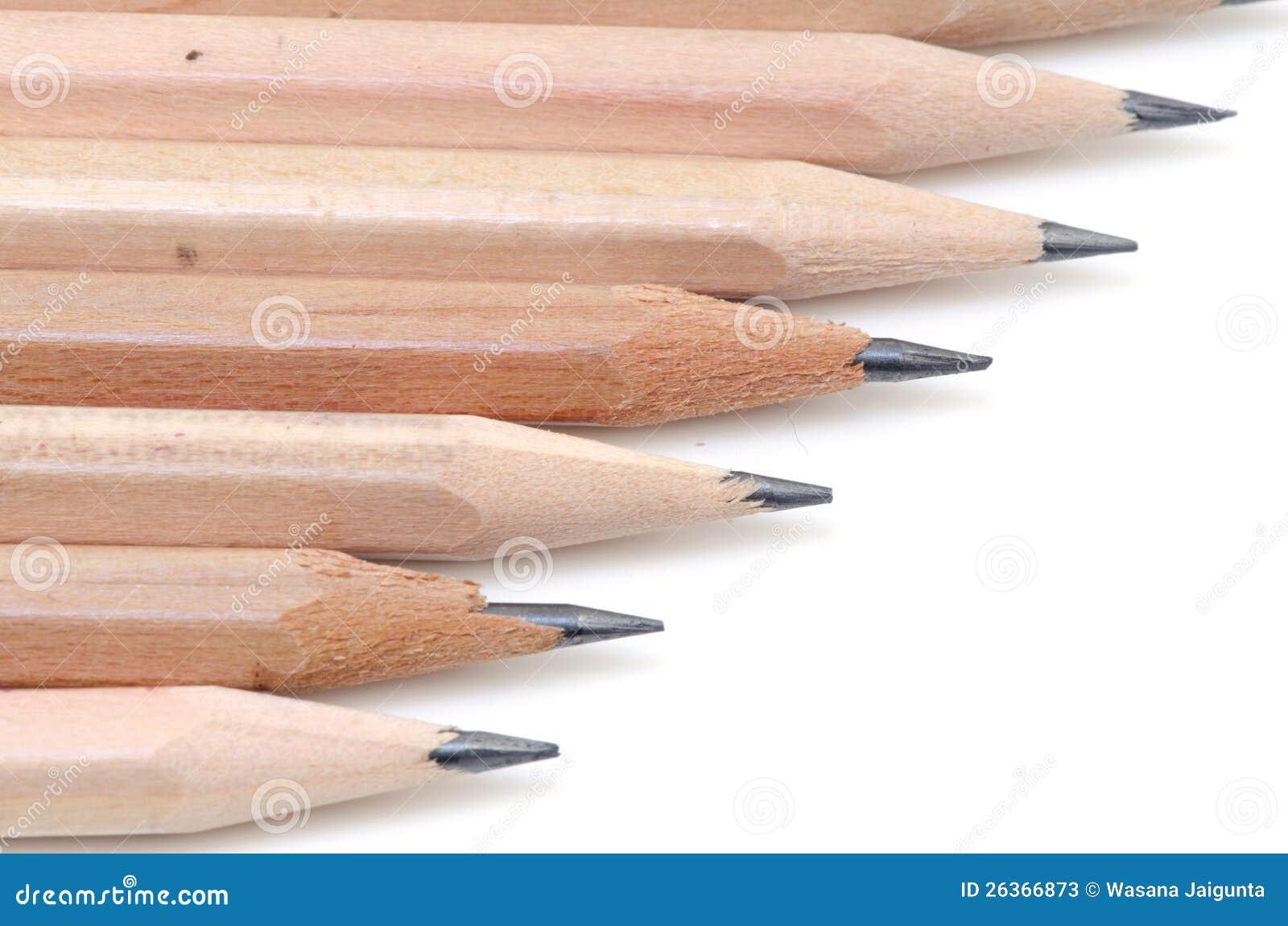 Bleistift auf einem weißen Hintergrund.