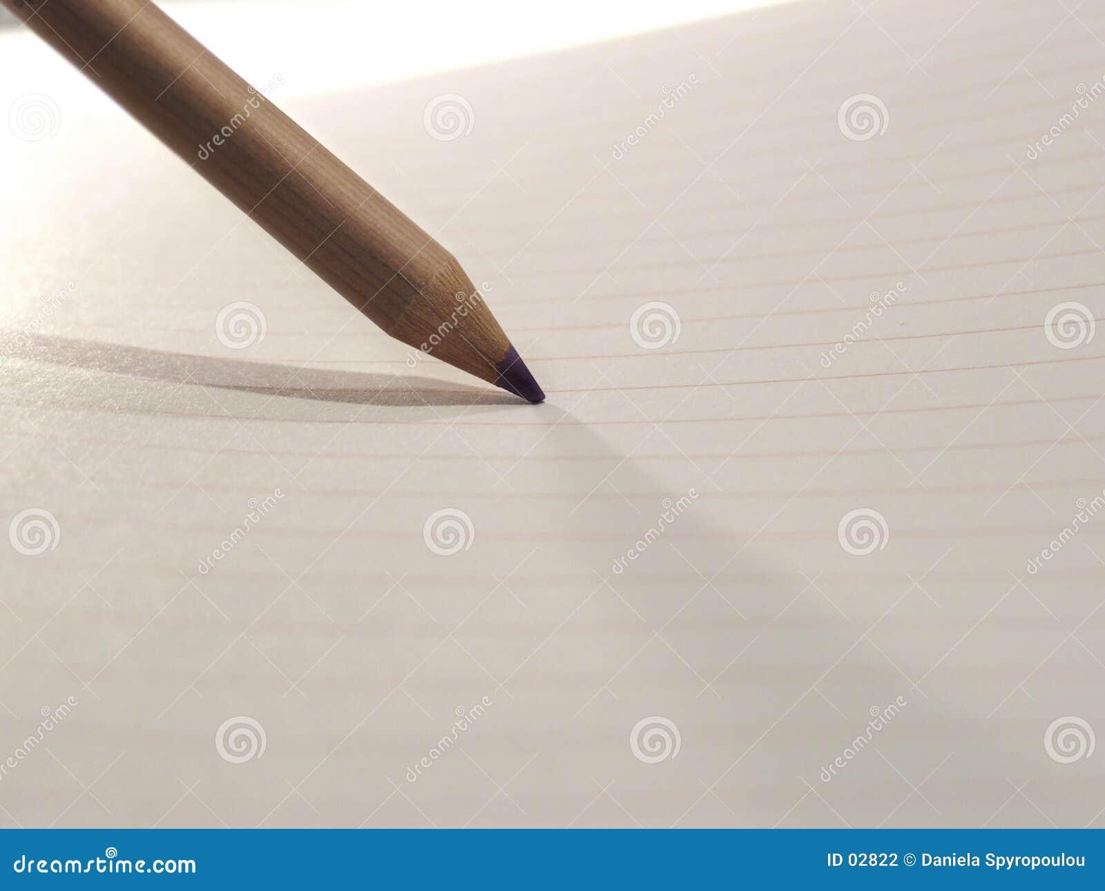 Download Bleistift auf Papier stock abbildung. Illustration von holzkohle - 2822
