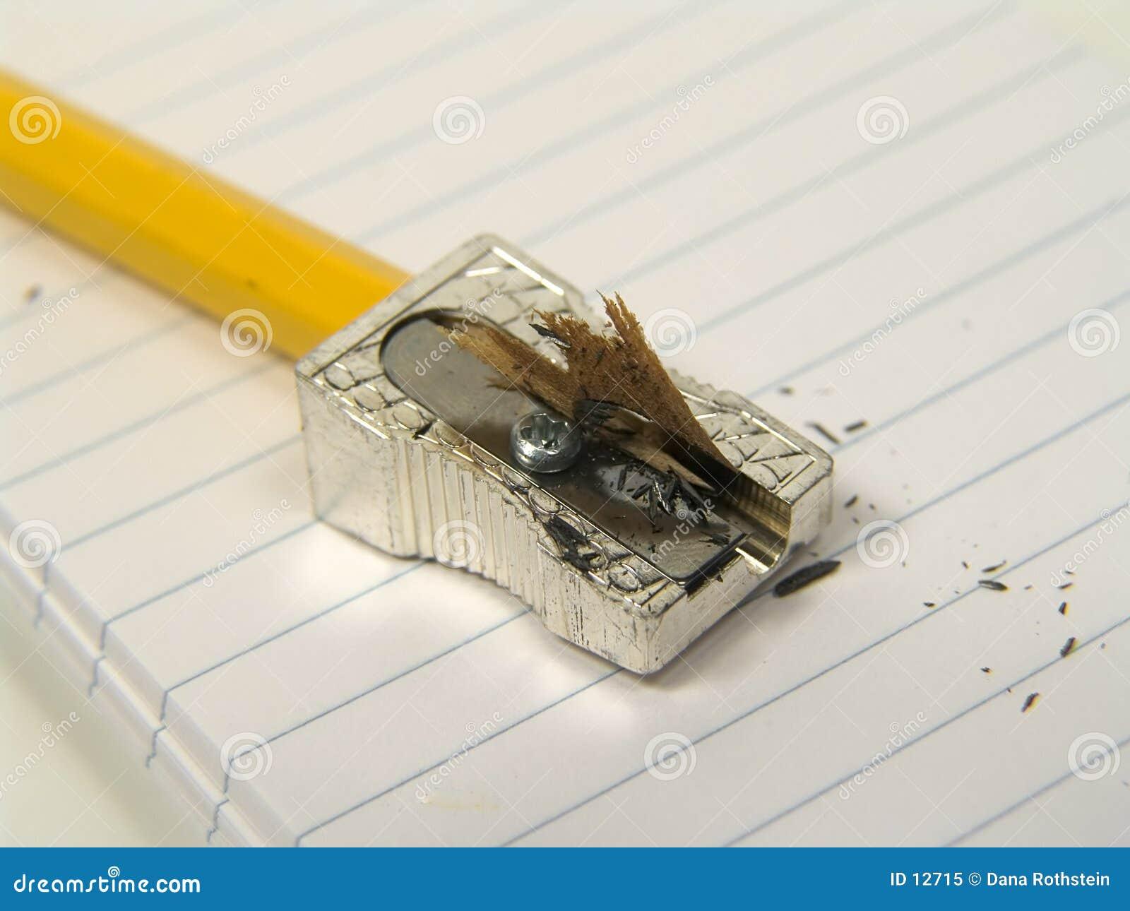 Bleistift geschärft