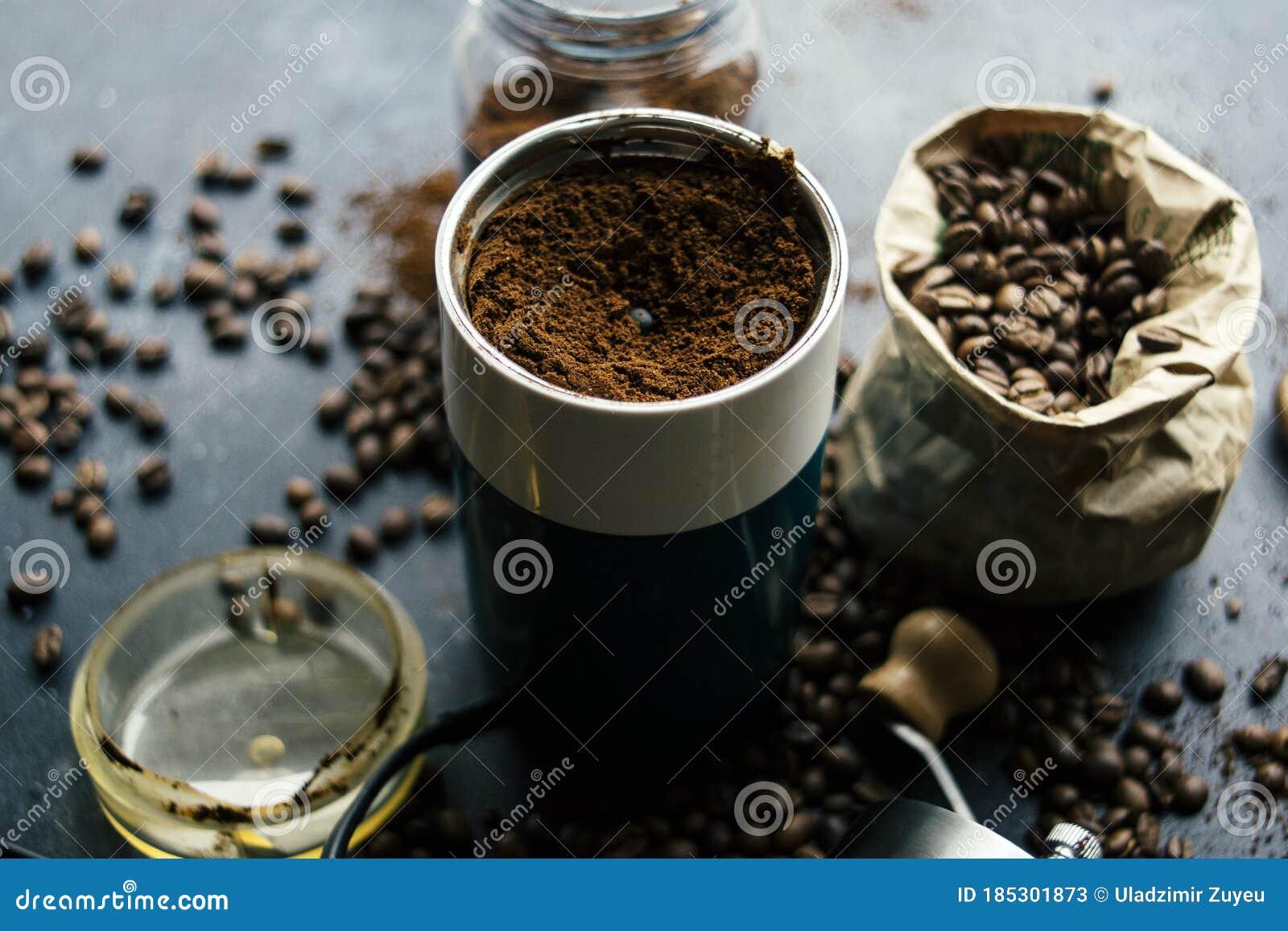 Blend Espresso Hipster Coffee Specialty Barista Machine Pour Process Black Restaurant Shop Beans Blender Grinder Stock Image Image Of Blender Industrial 185301873