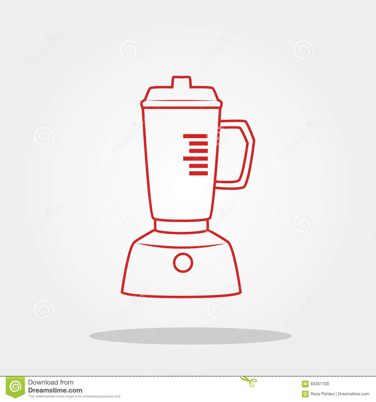 Blender Cute Icon In Trendy Flat Style Isolated On Color Background.  Kitchenware Symbol For Your
