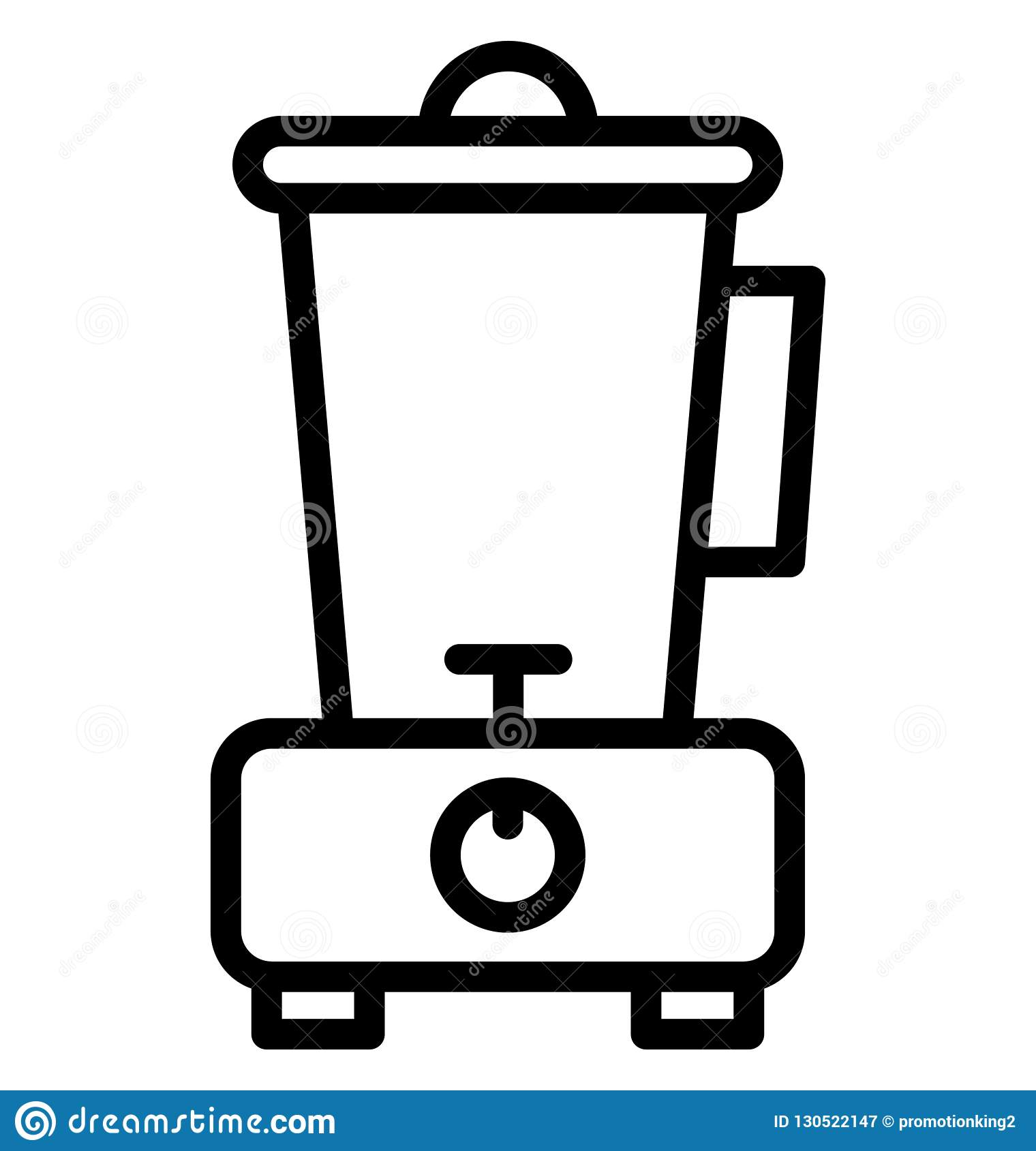 Blender, food processor Isolated Vector Icon That can be easily edited in any size or modified.