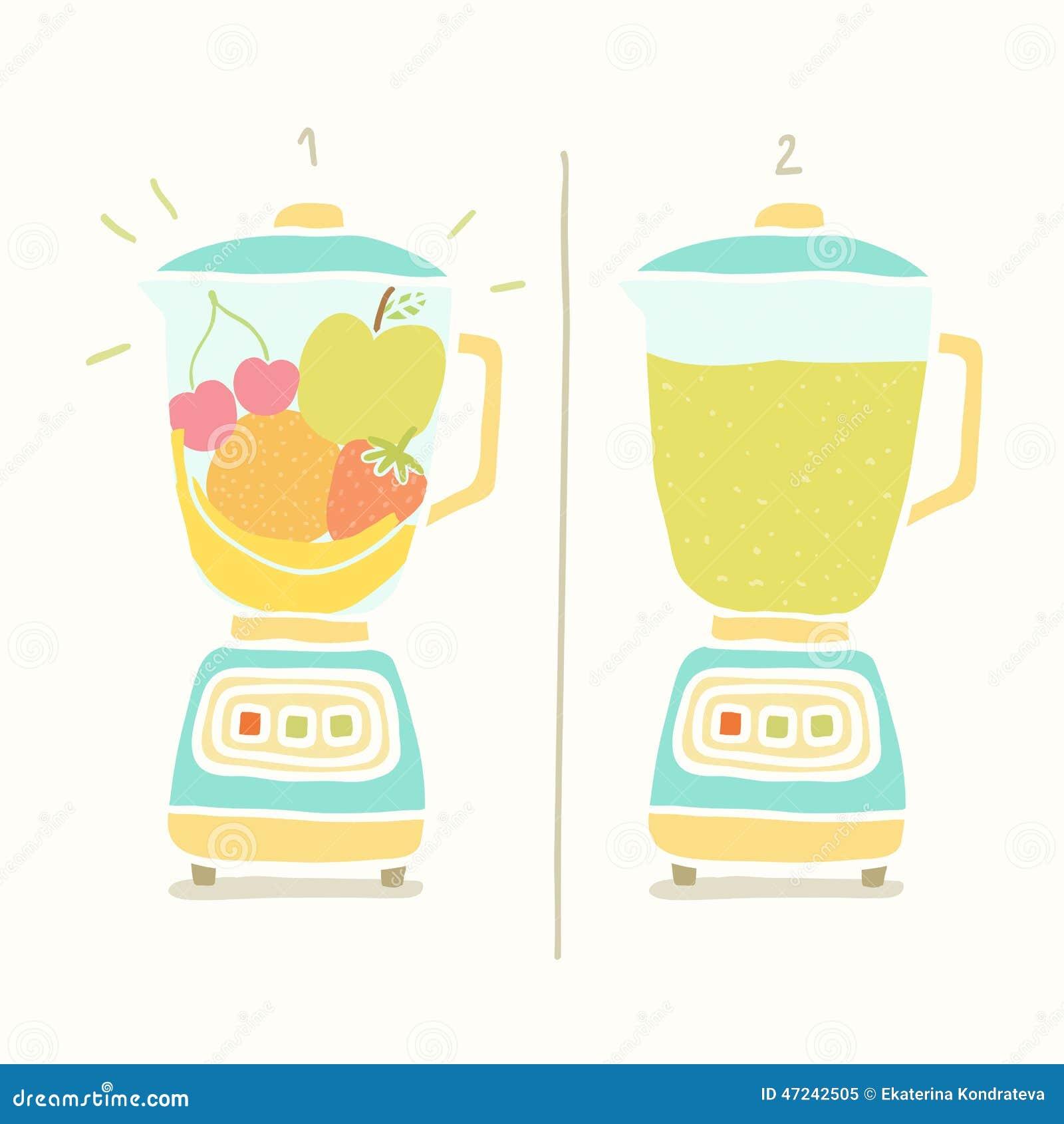 blender making fruit smoothie stock vector image 47242505