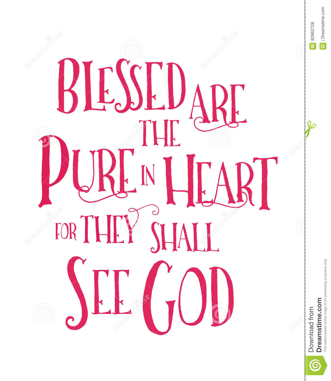 Blessed Are The Pure In Heart Stock Illustration - Image: 82662728