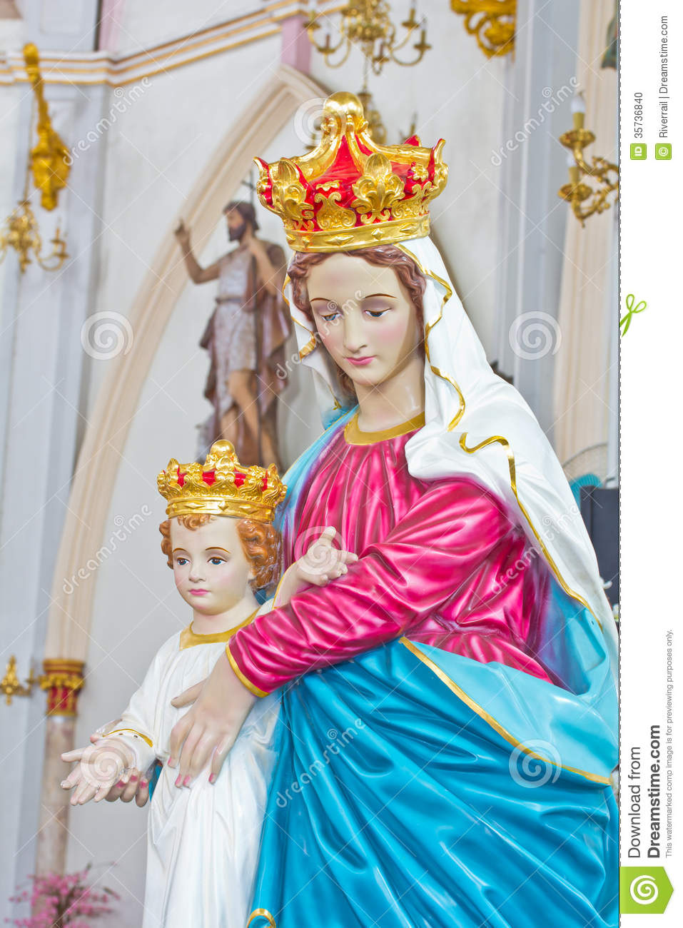 Blessed Mother Mary And Jesus Blessed Virgin Mary statue and
