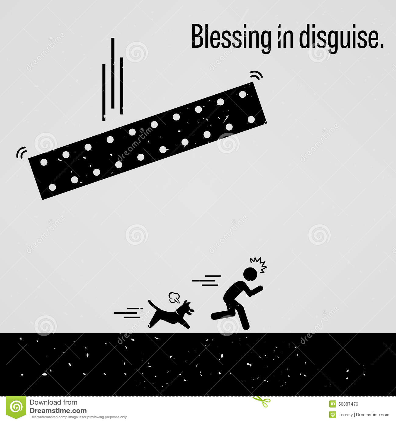 blessing in disguise stock vector image 50887479 good luck clip art free good luck clipart black and white