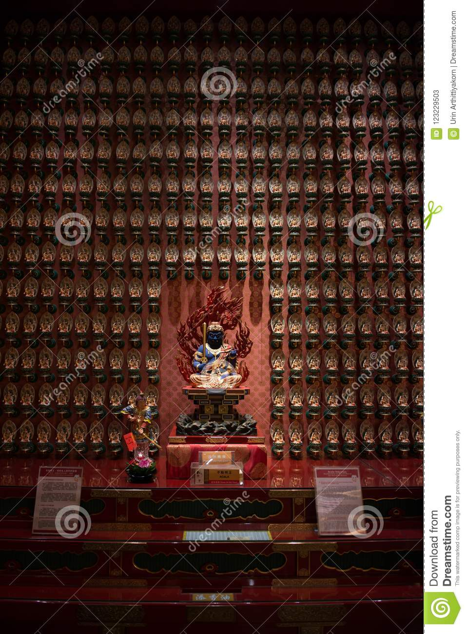 The Bodhisattva in Buddha Tooth Relic Temple