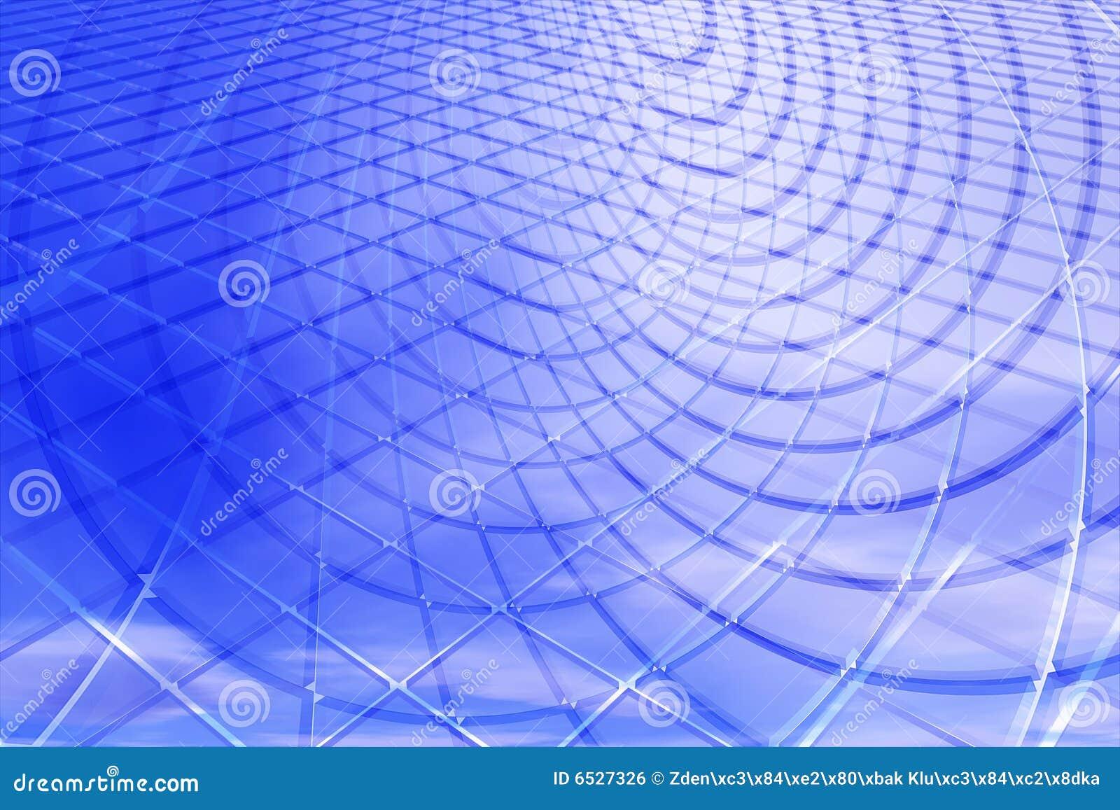 Bleu abstrait du fond 3d