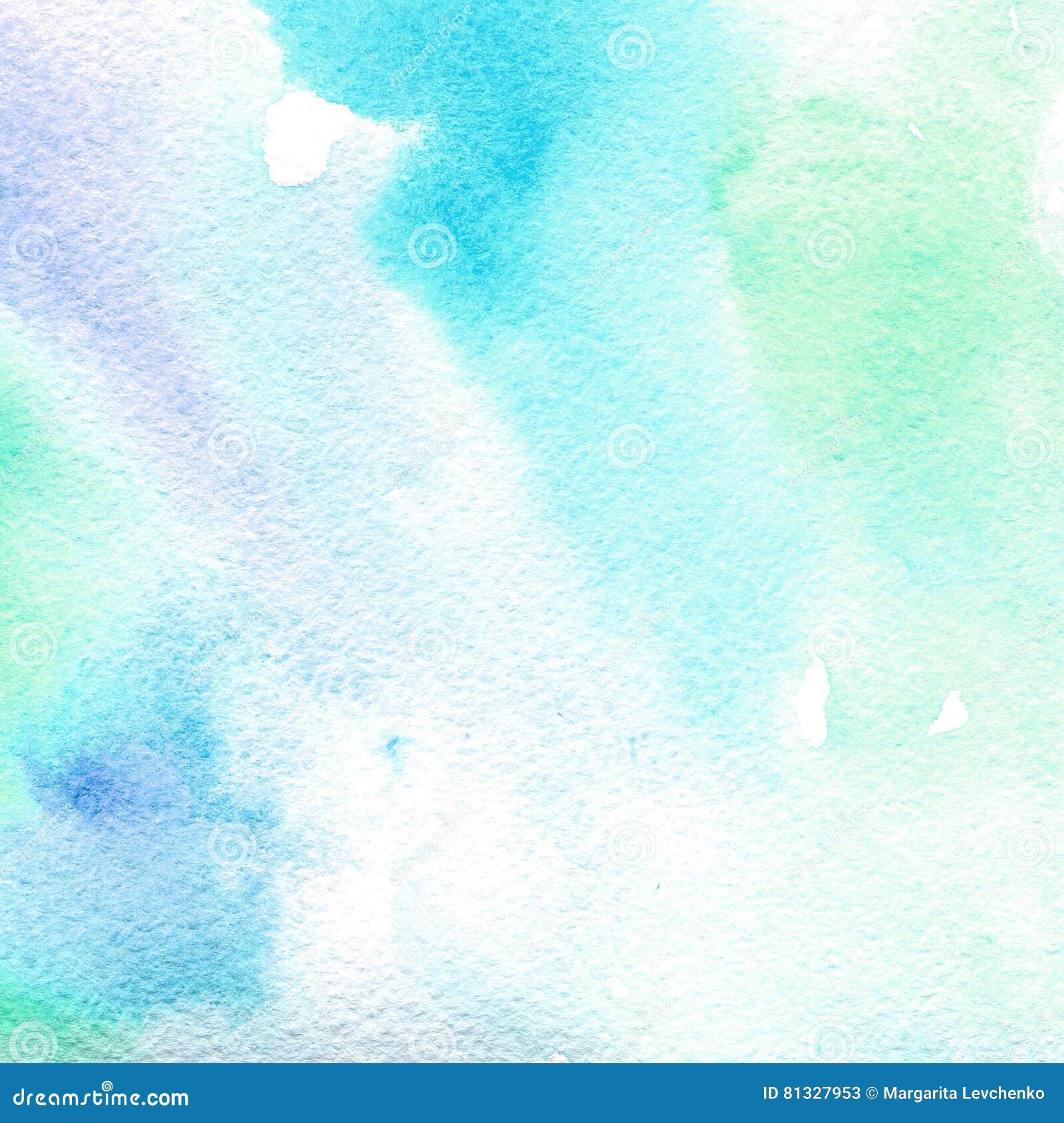 Bleu-clair transparent de texture d aquarelle fond abstrait, tache, tache floue, suffisance