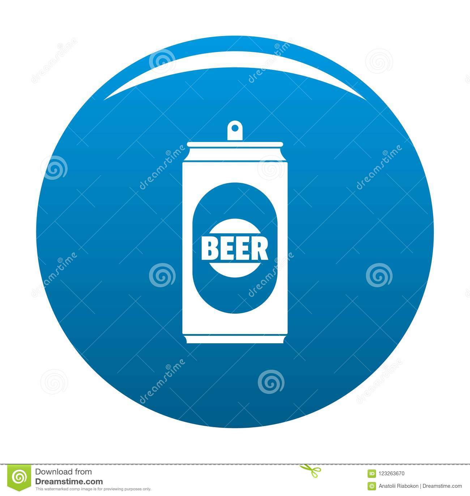 Bleu d icône de canette de bière