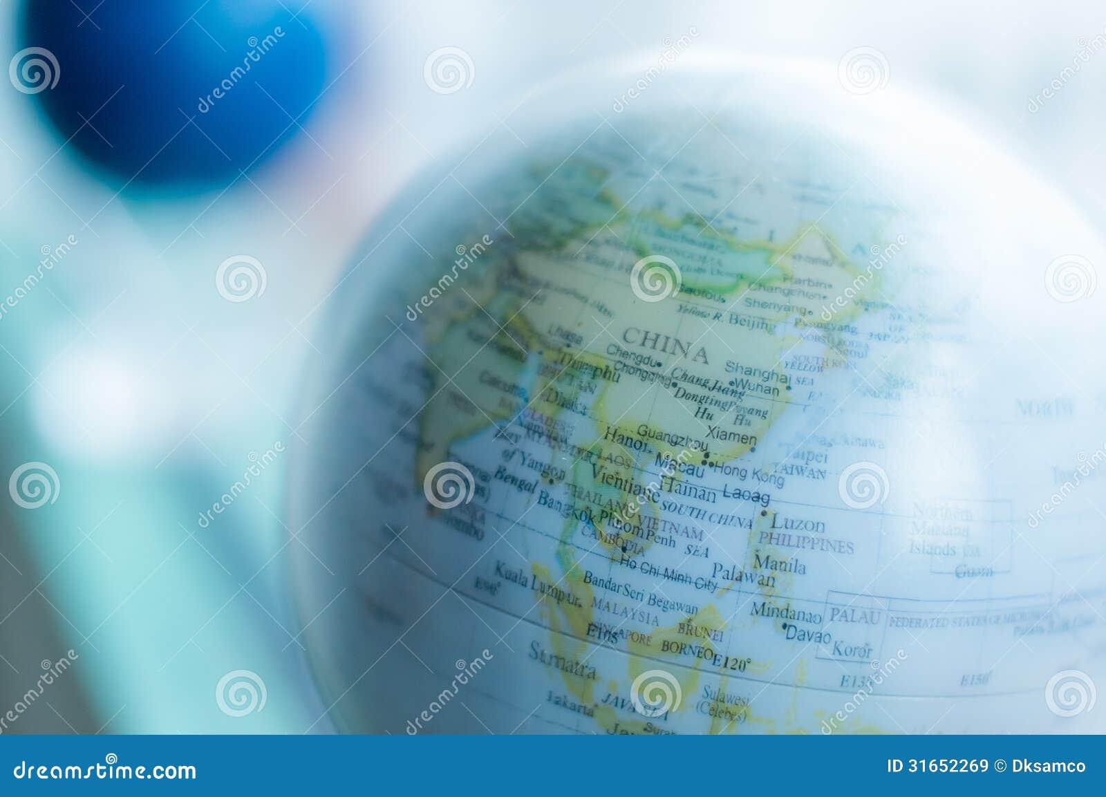 Bleu de carte du monde   technologie de la science