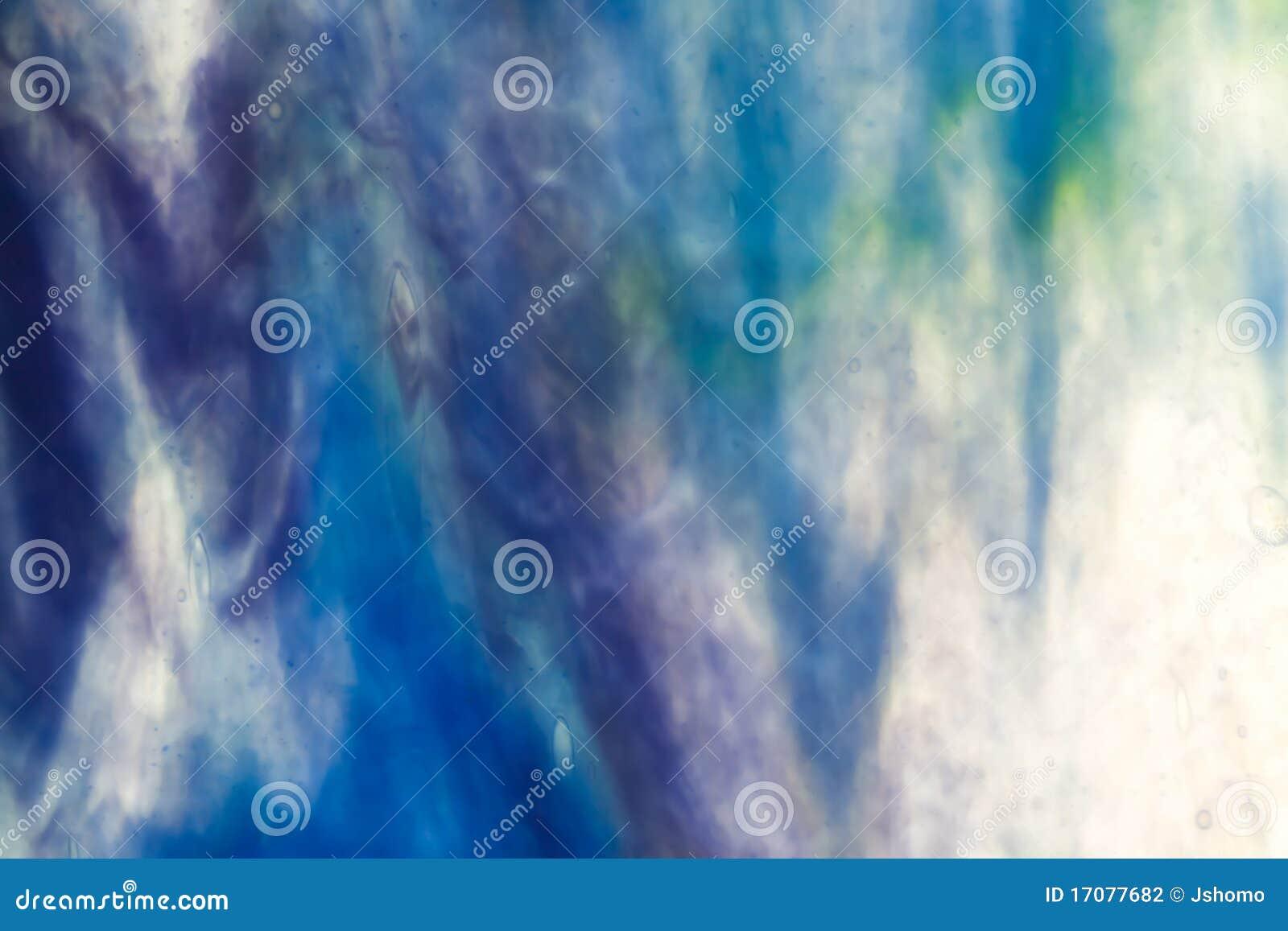 Bleu de ciel en verre souillé opaque