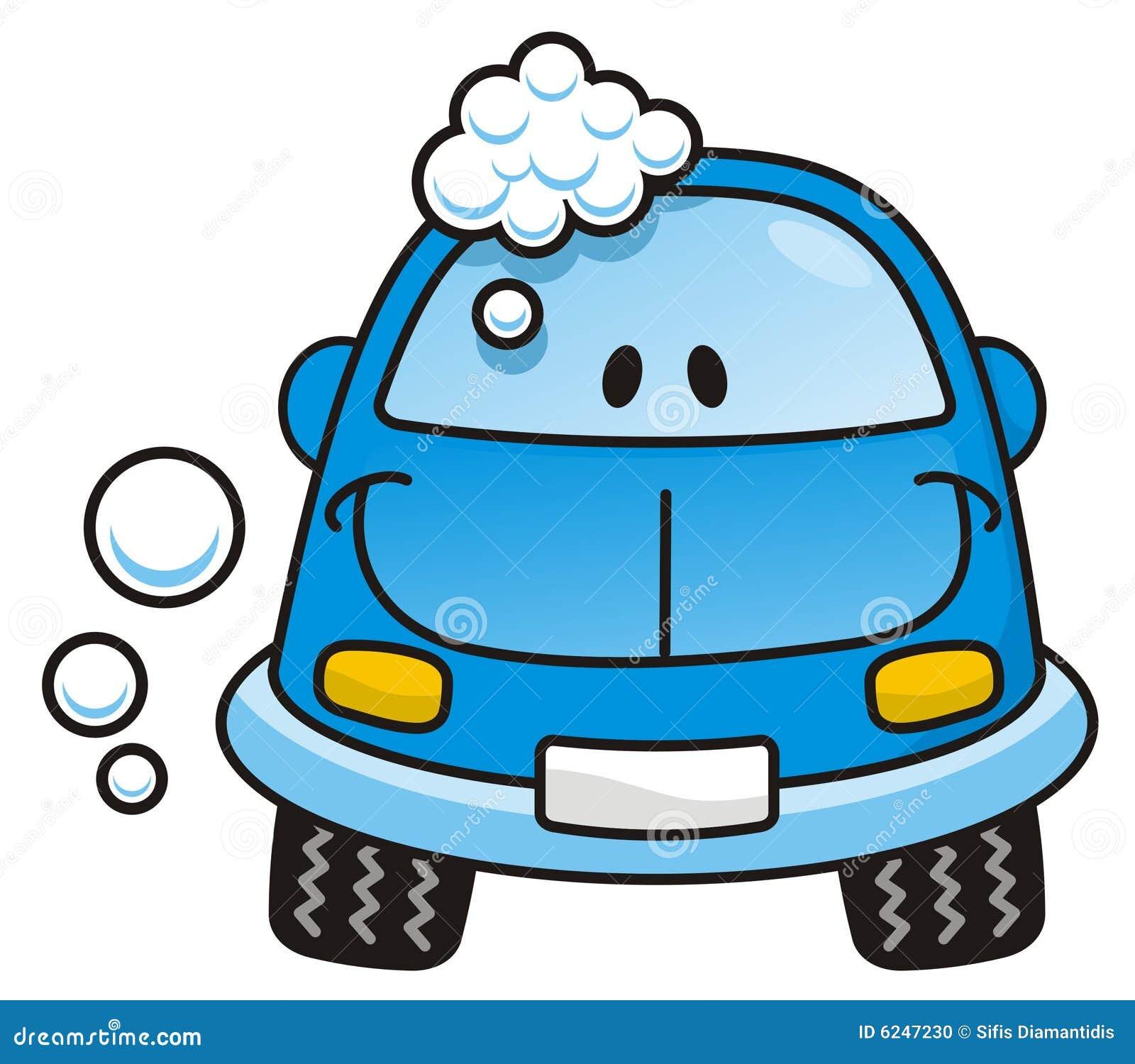 Bleu de lavage de voiture