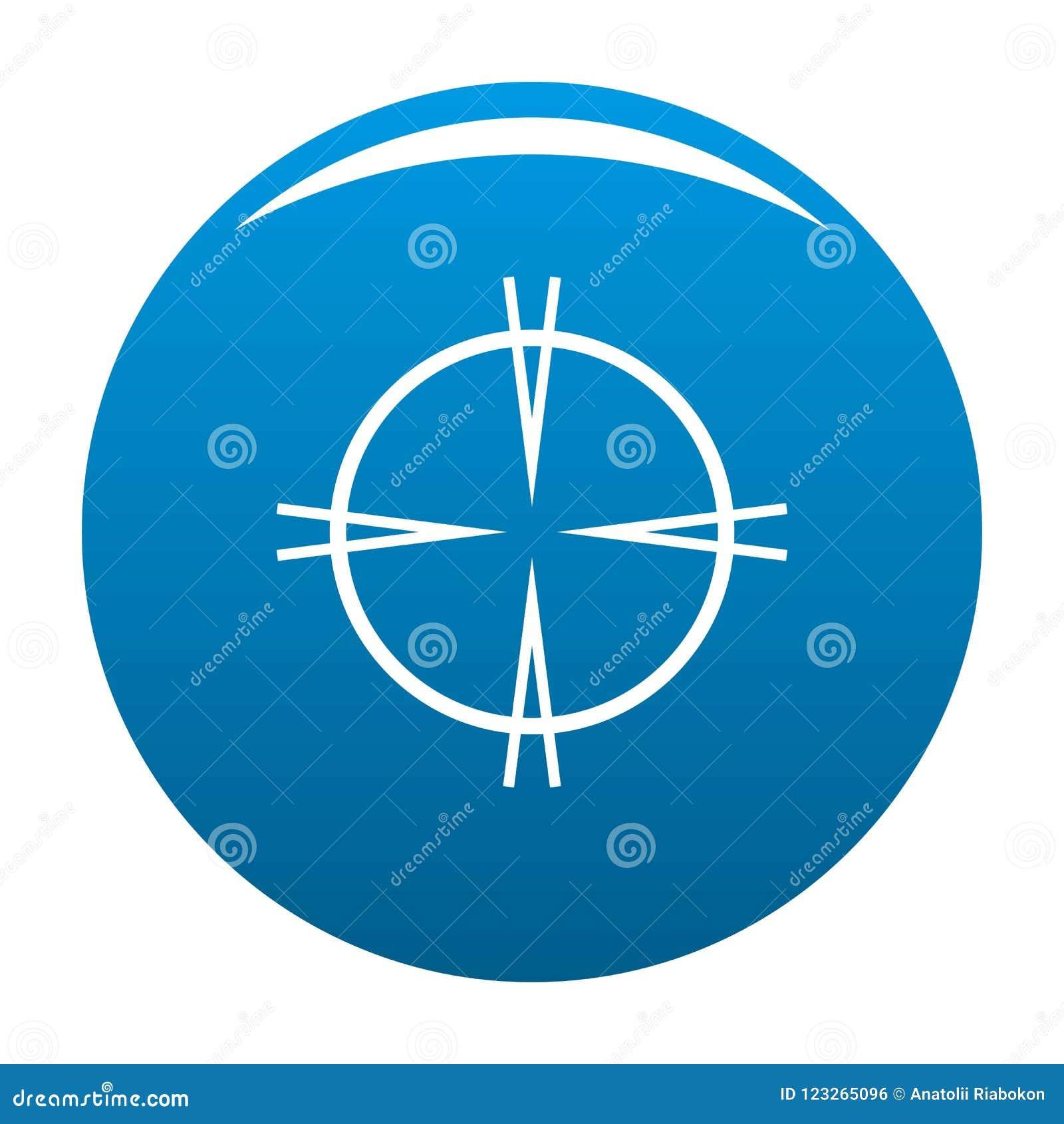 Bleu focal d icône de cible