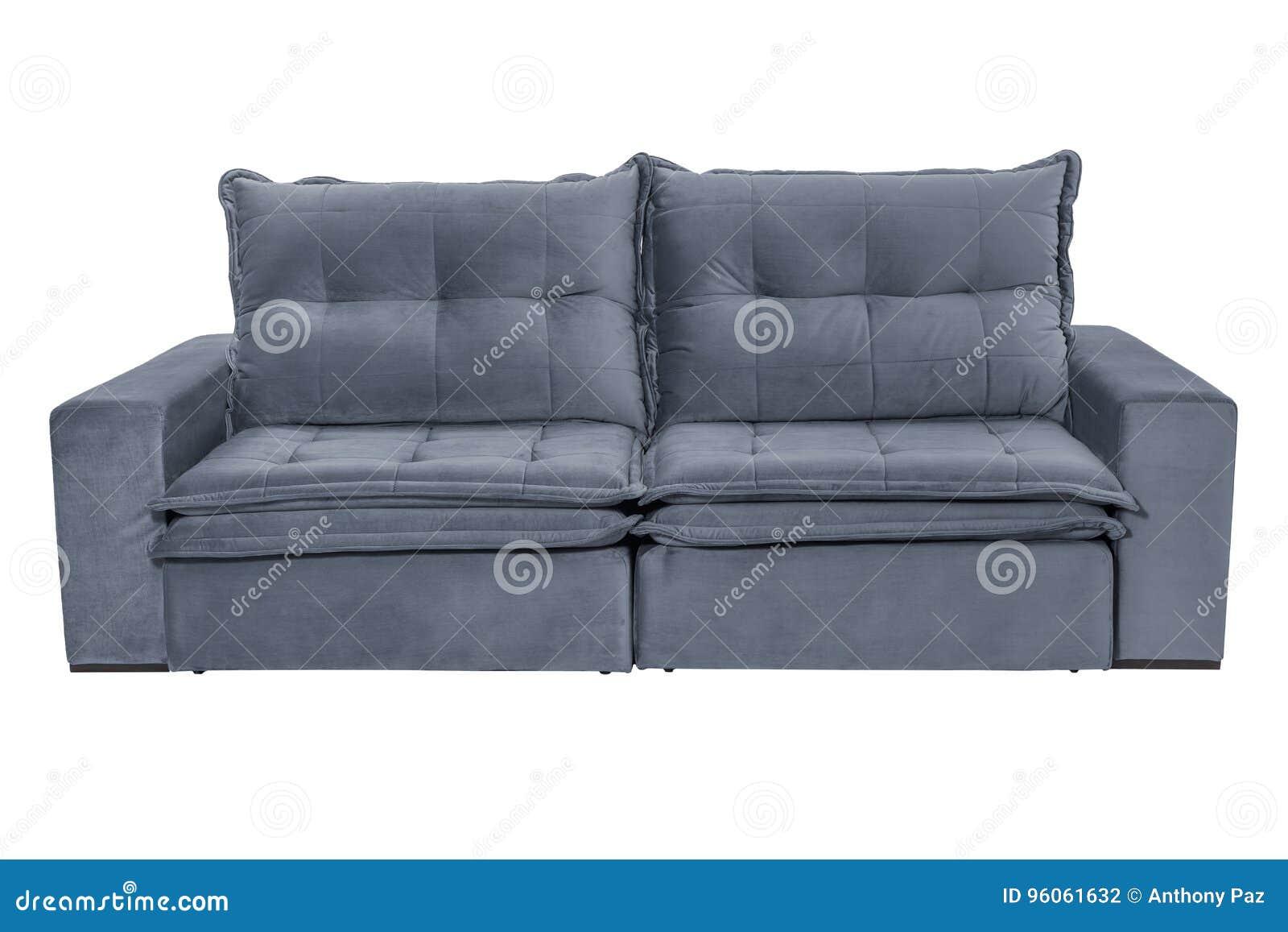 Bleu gris confortable de trois sièges