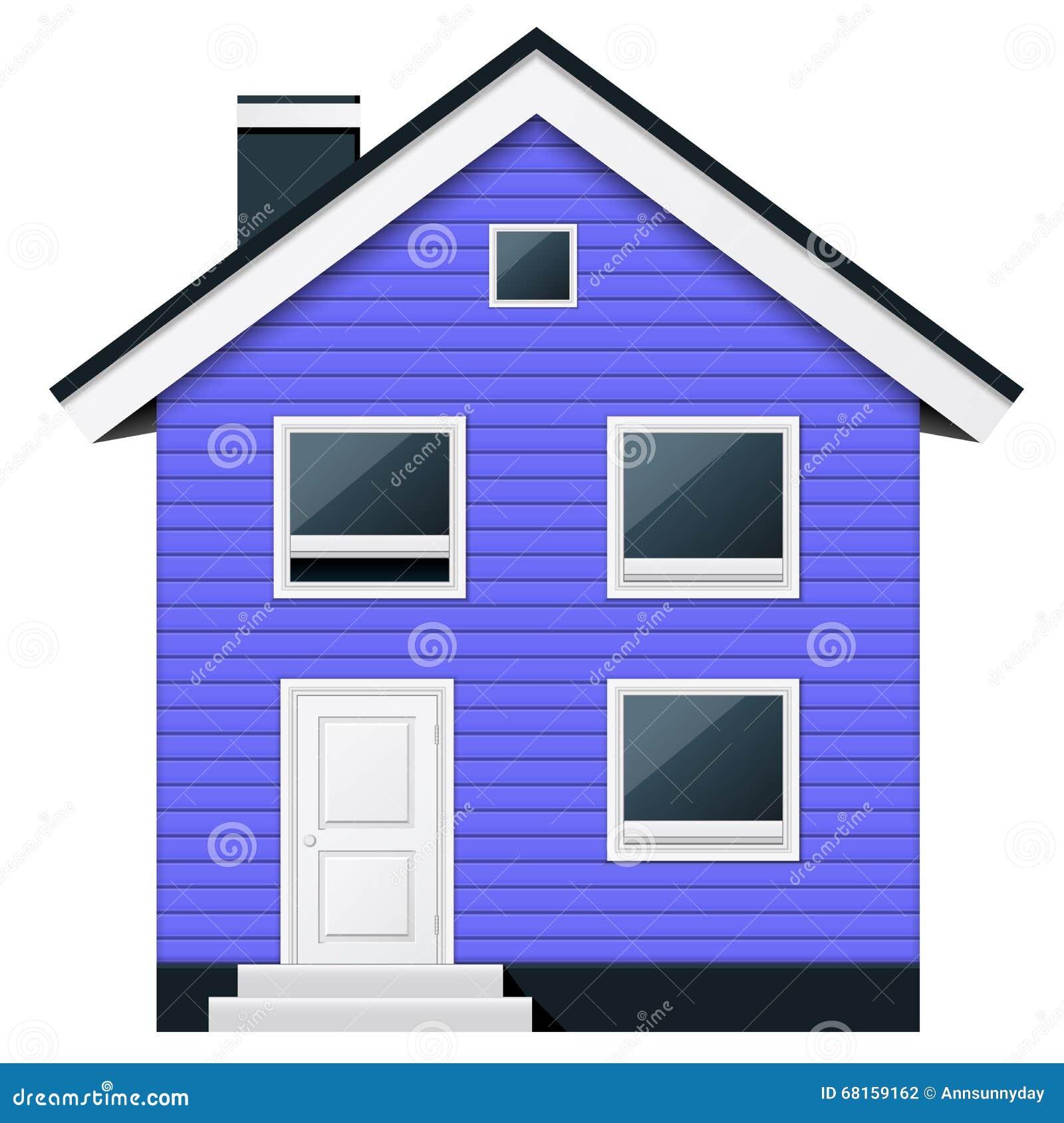Bleu maison urbaine en bois deux tages dans le style for Maison scandinave bois