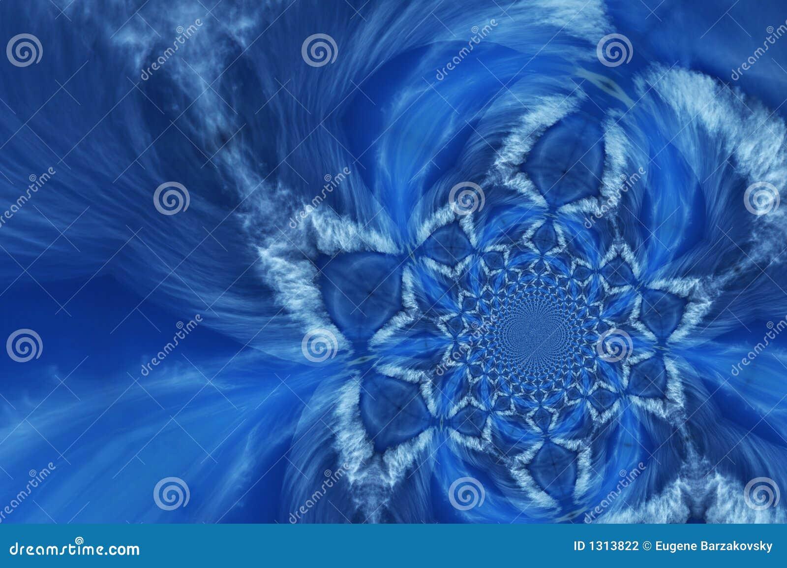 Bleu profond abstrait