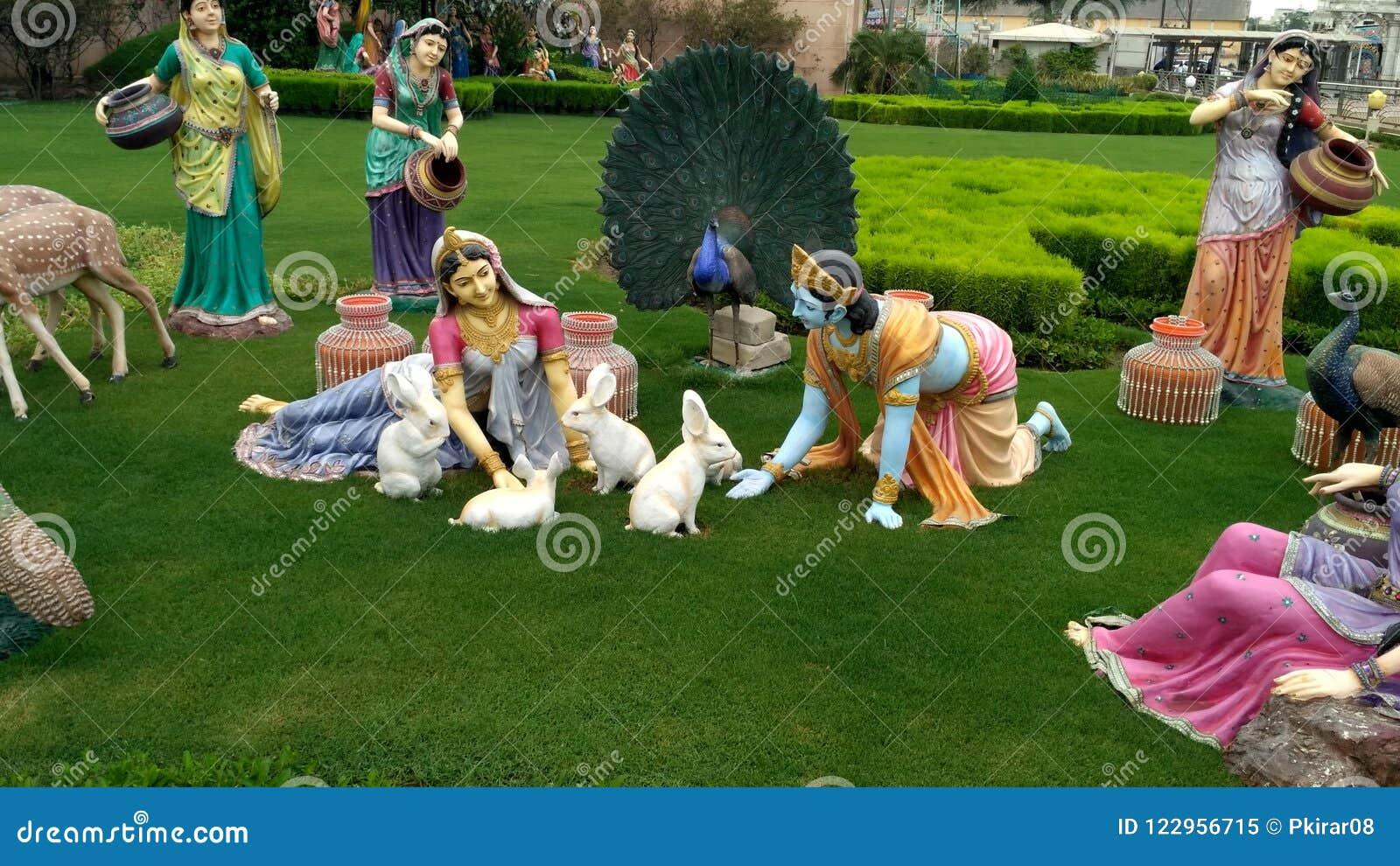 Blick von Lord Krishna bei Prem Mandir Vrindavan