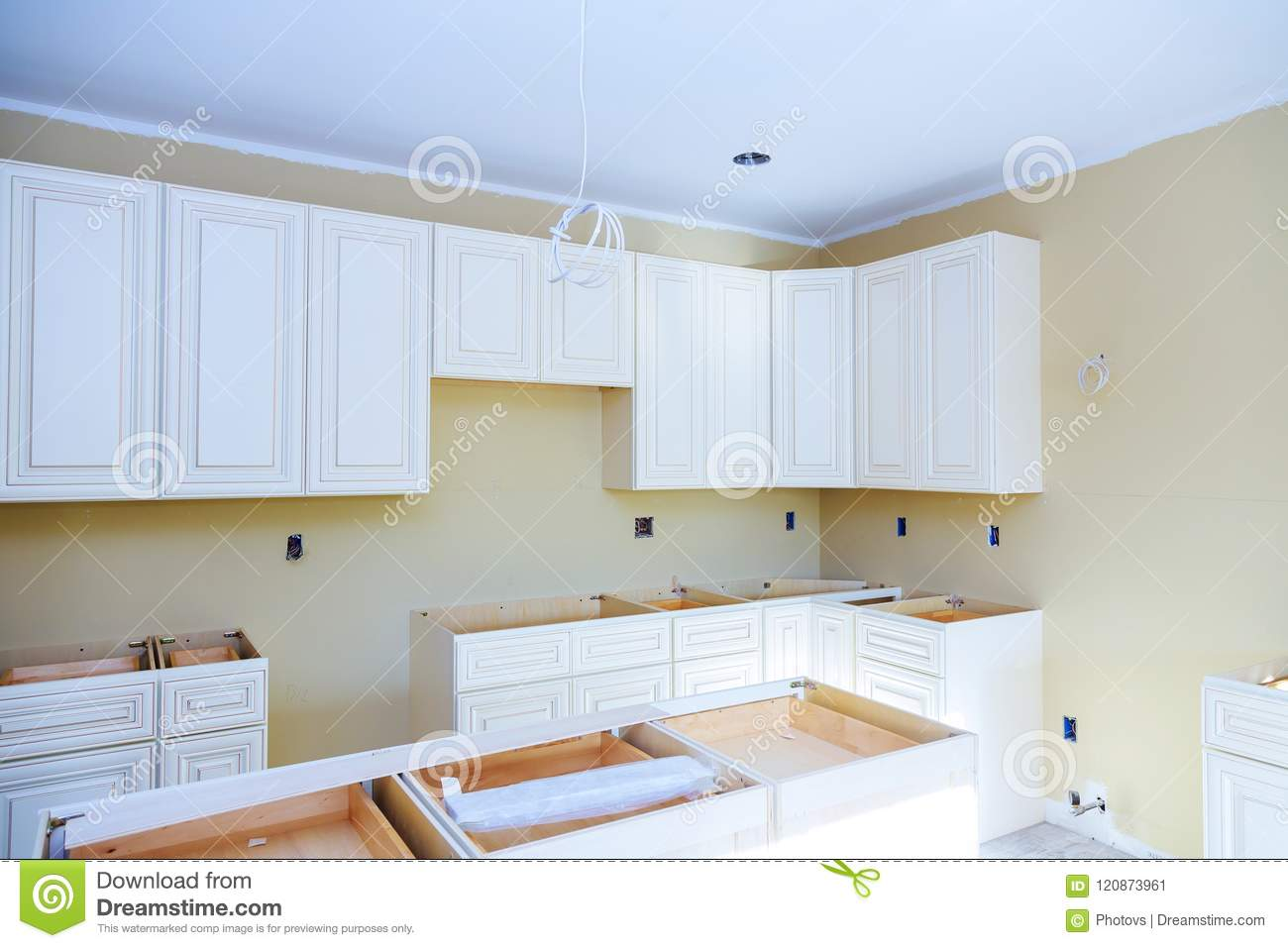 Blind Cabinet Island Drawers And Counter Cabinets Installed