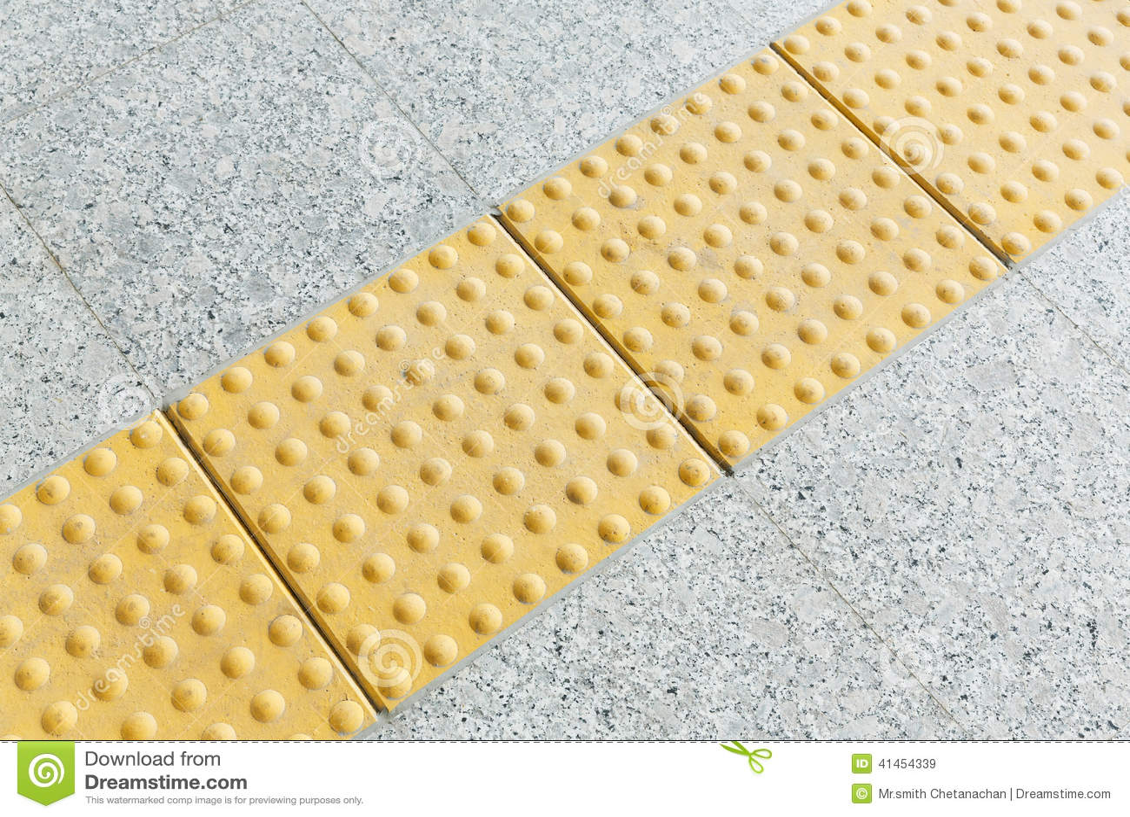Blind Floor Tiles Stock Photo Image 41454339