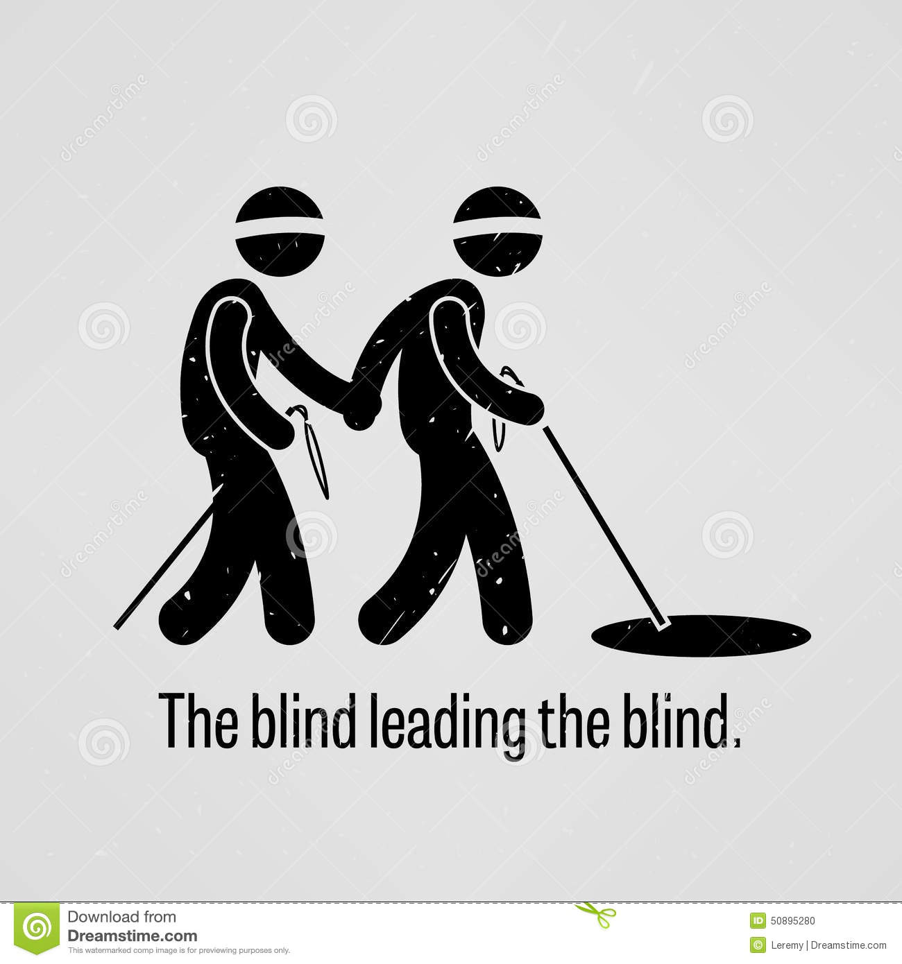 The Blind Leading The Blind Stock Vector Image 50895280