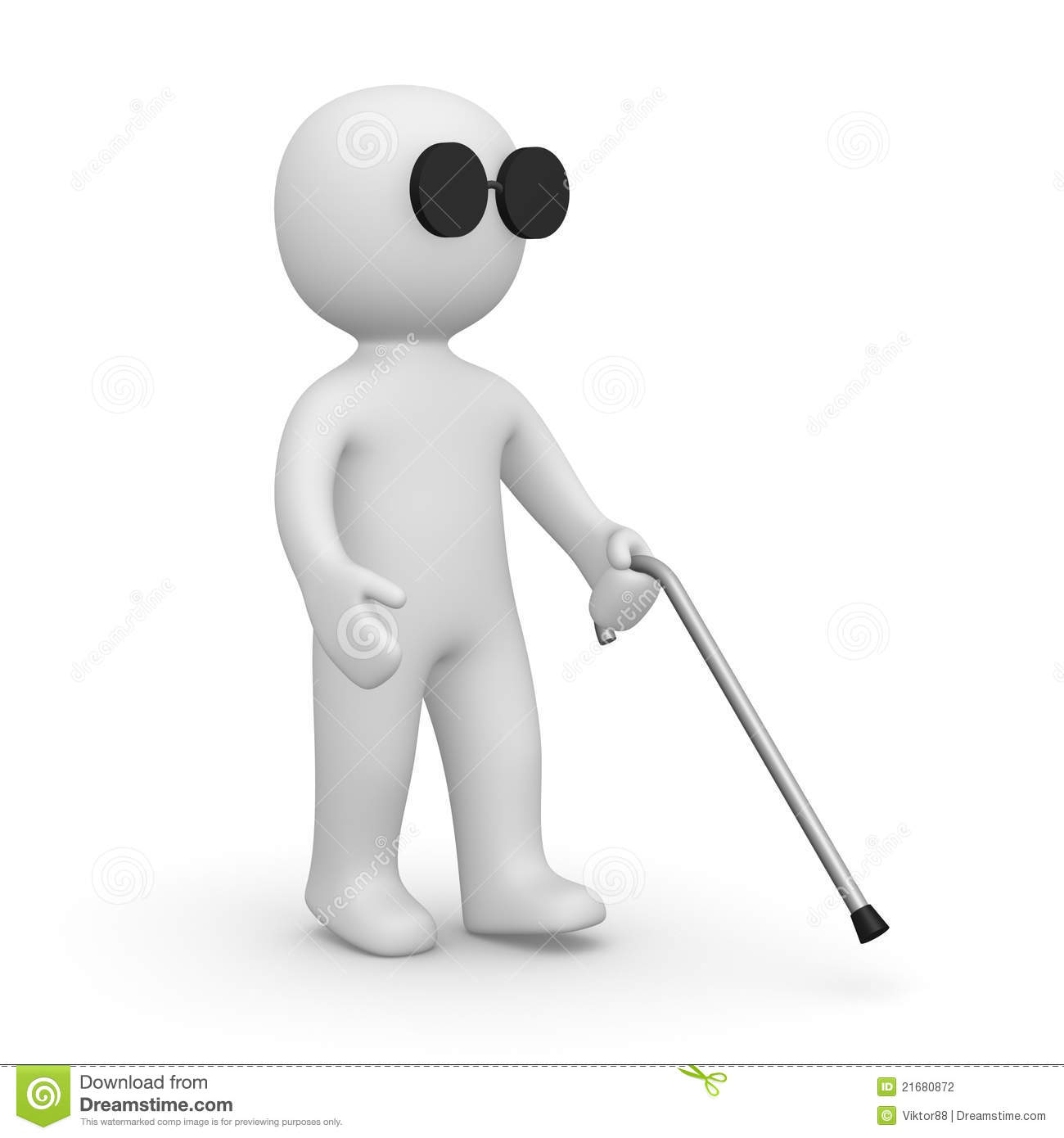Blind Man Stock Photography Image 21680872