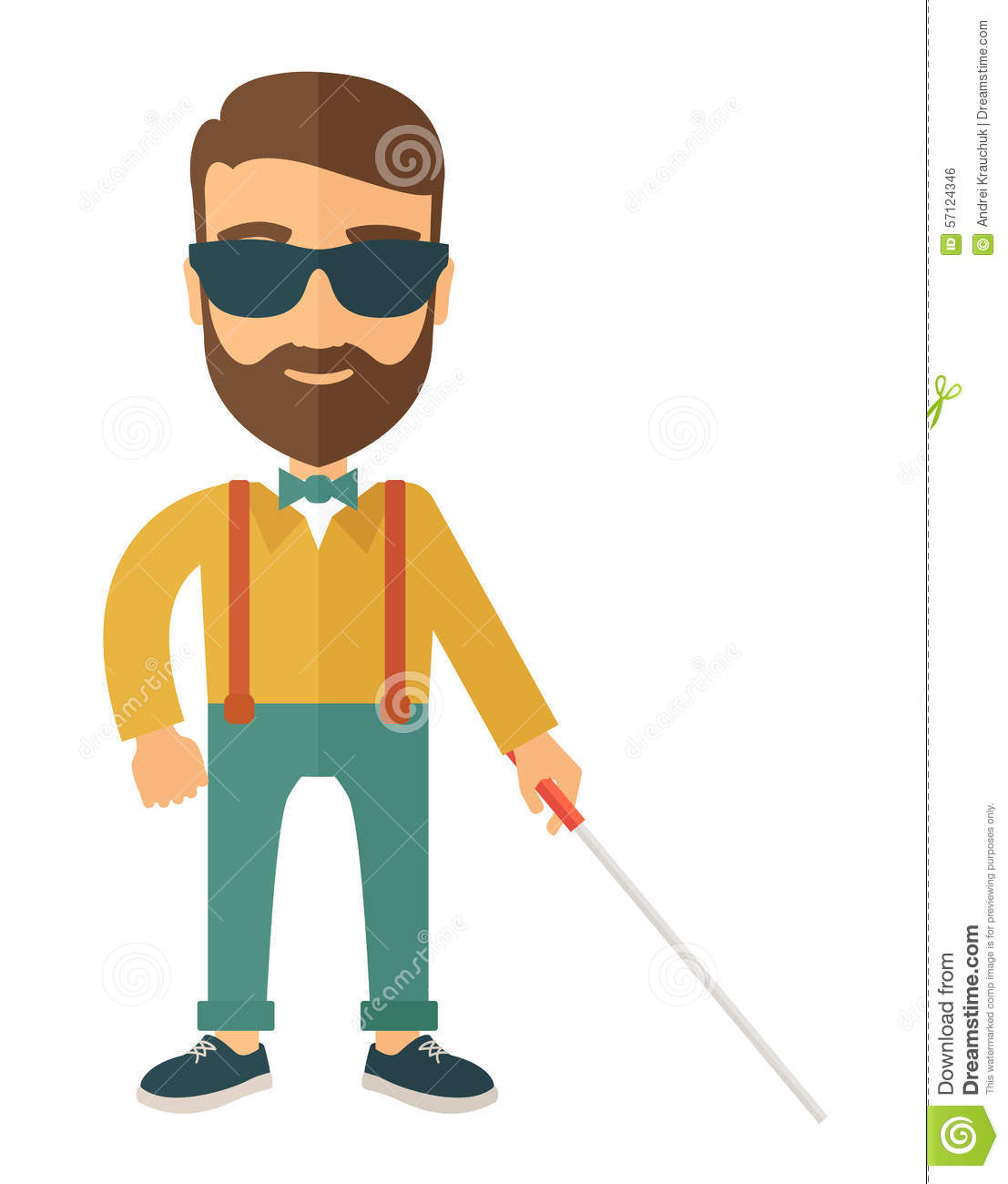 Stock Illustration Blind Man Walking Stick Caucasian Inside House Contemporary Style Vector Flat Design Illustration Isolated White Image57124346 on house plans layout design