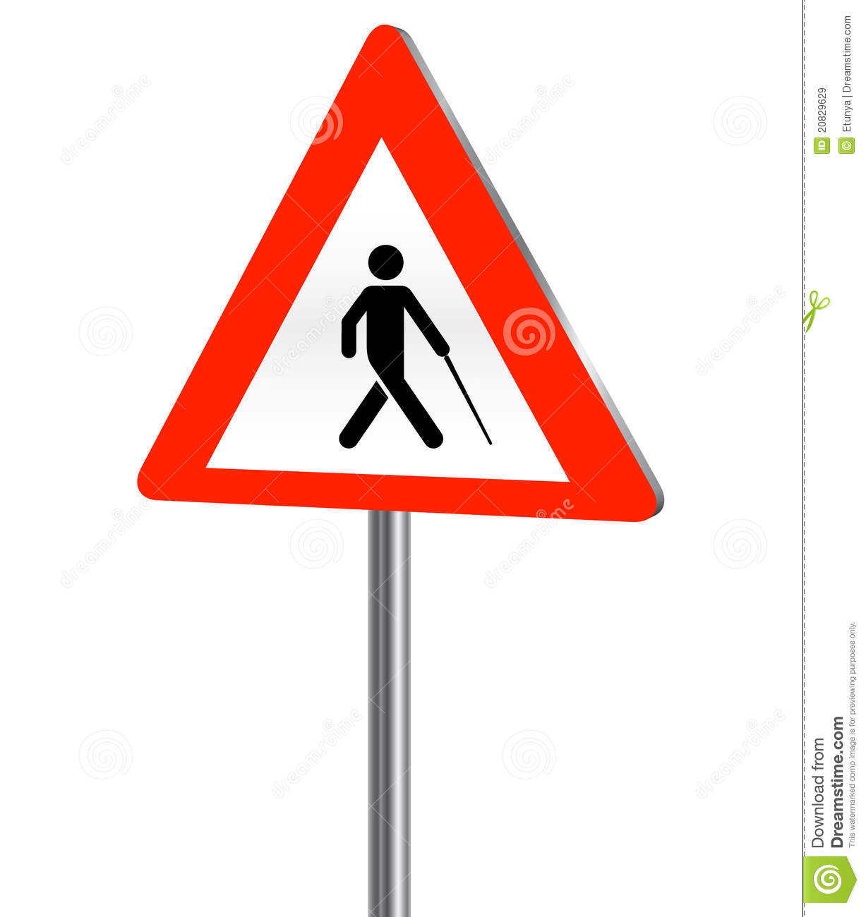 Blind Person Road Sign Royalty Free Stock Images Image