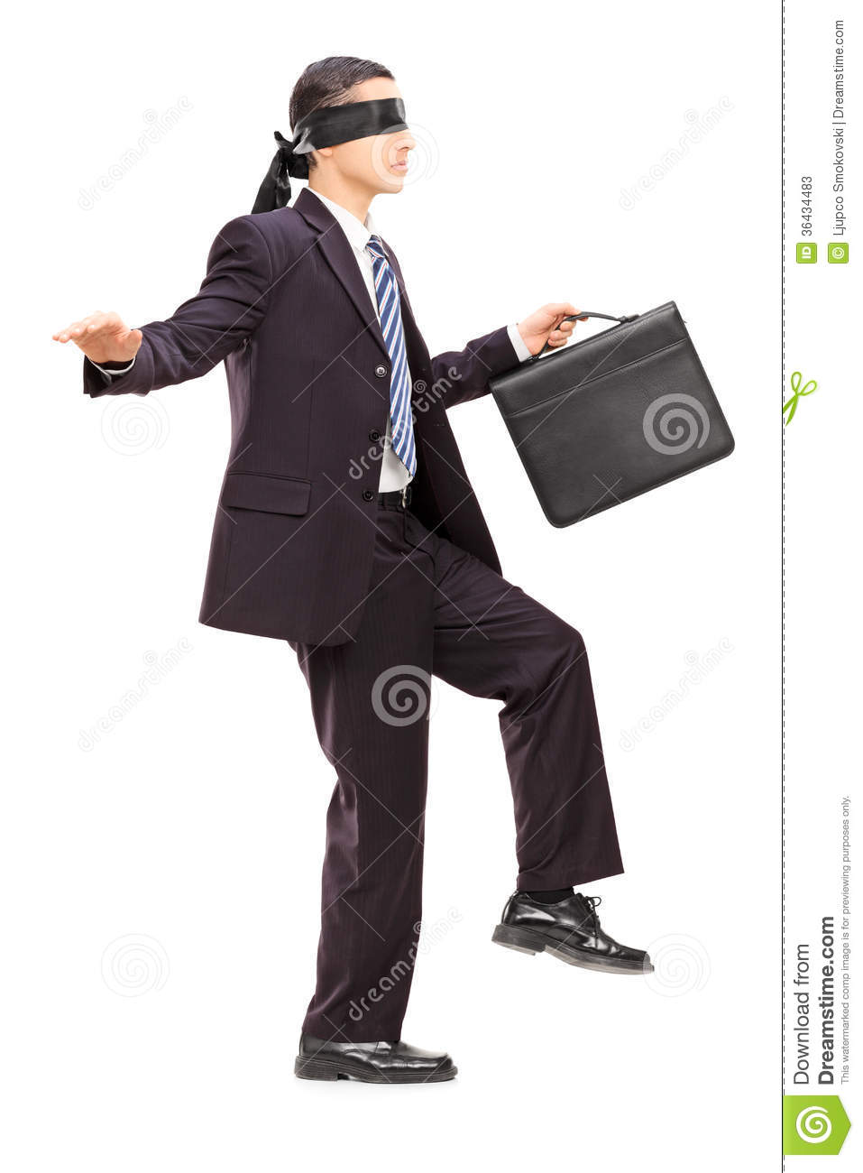 Young businessman with briefcase