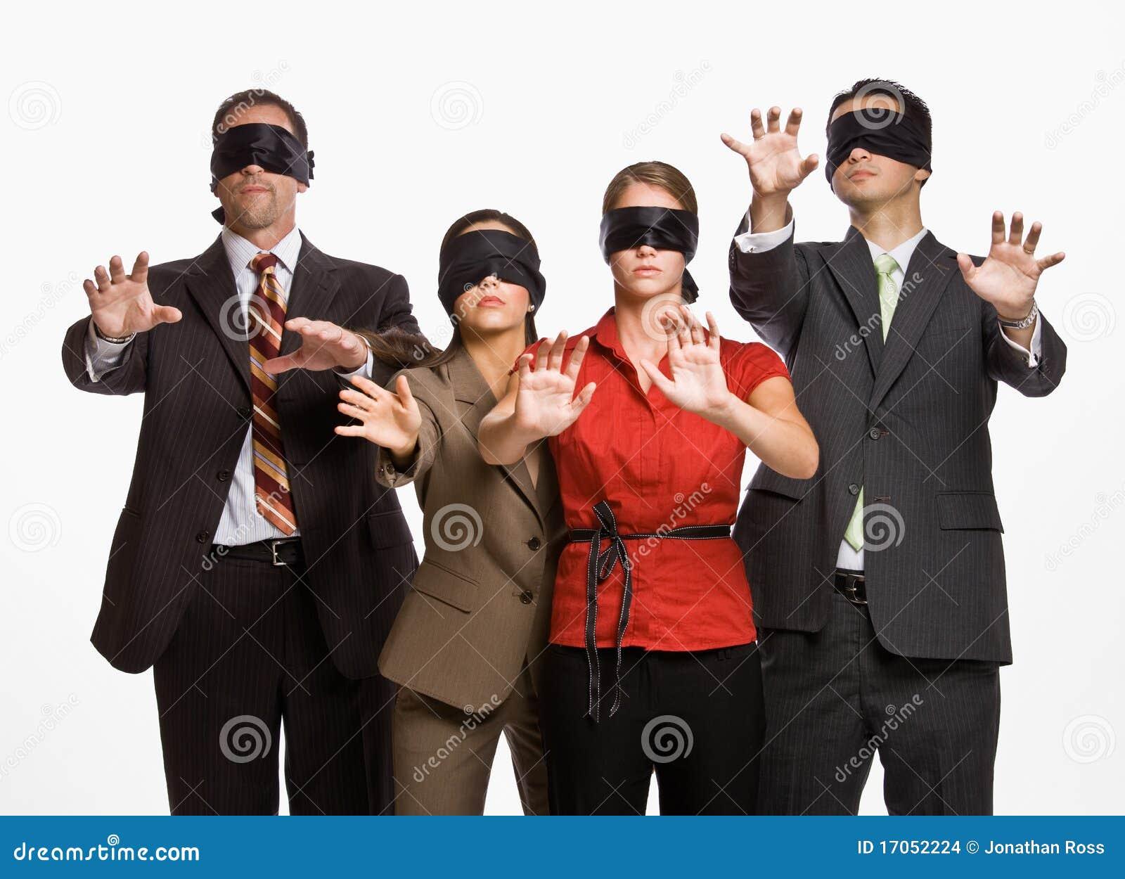 Blindfolds επιχειρηματίες