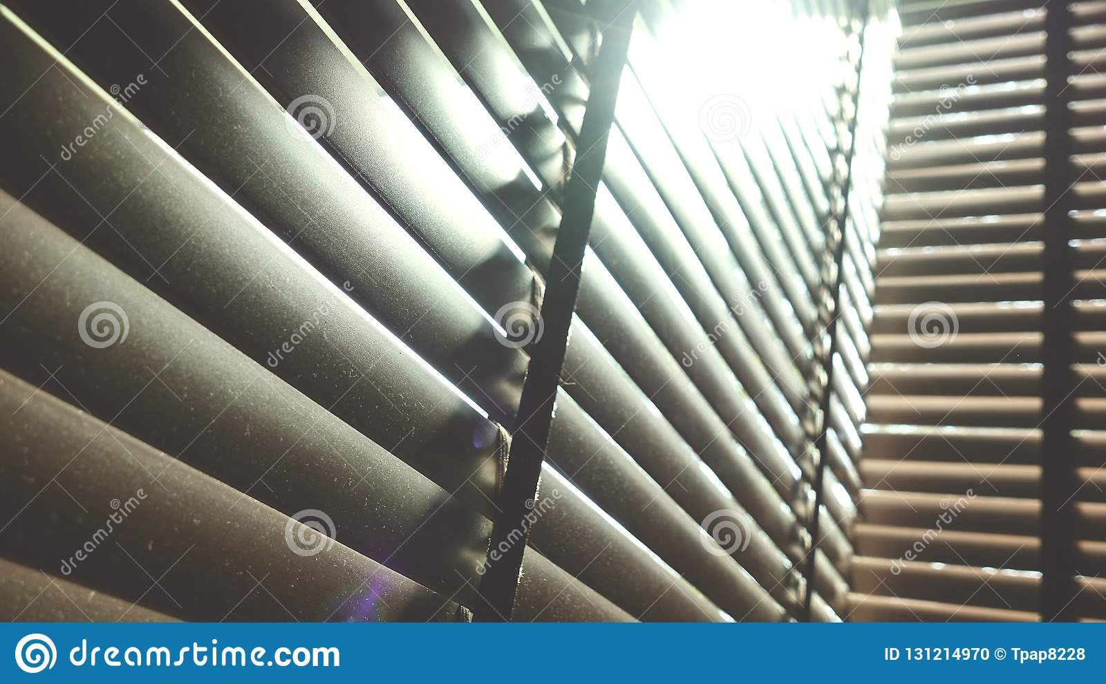 Blinds Evening Sun Light Outside Window Blinds Sunshine And Shadow On Window Blind Decorative Interior In Home Stock Photo Image Of Open Decor 131214970