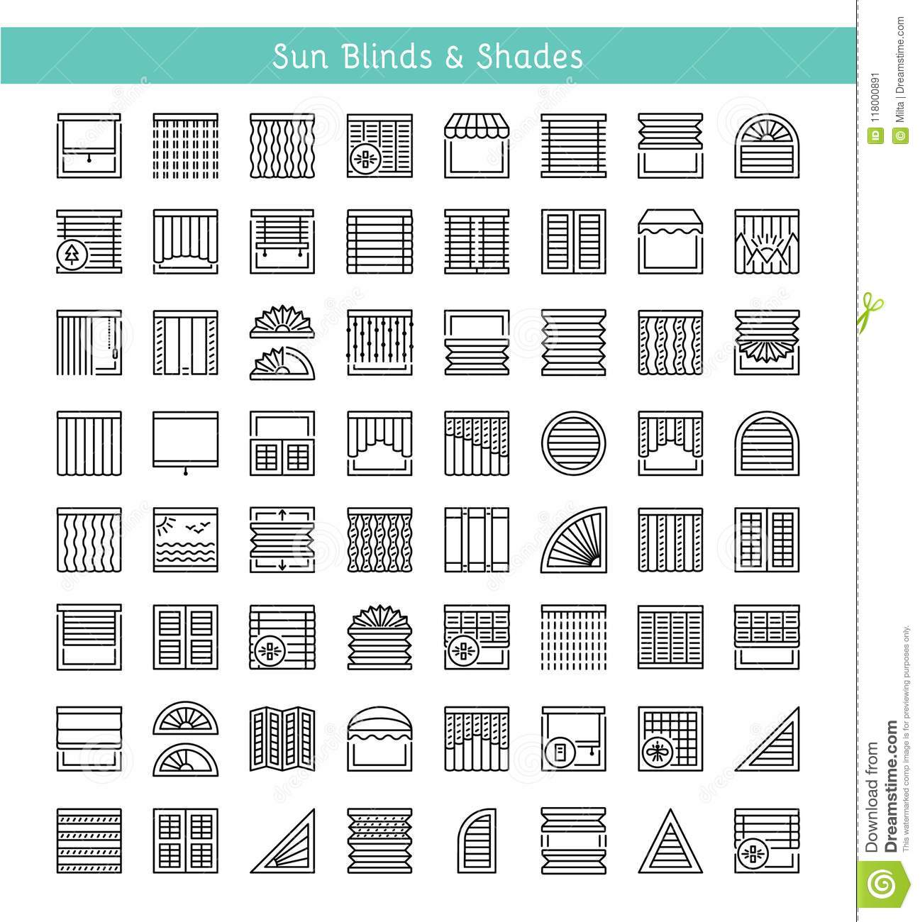 Blinds & Shades. Sun protection. Interior shutters & panel curt