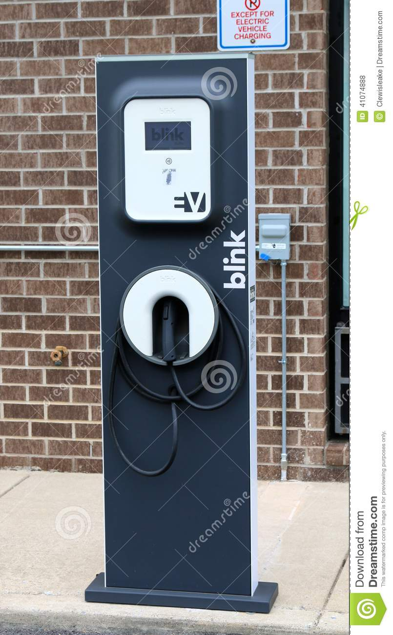 Blink Charging Stations >> Blink Electric Vehicle Charging Station Editorial Stock