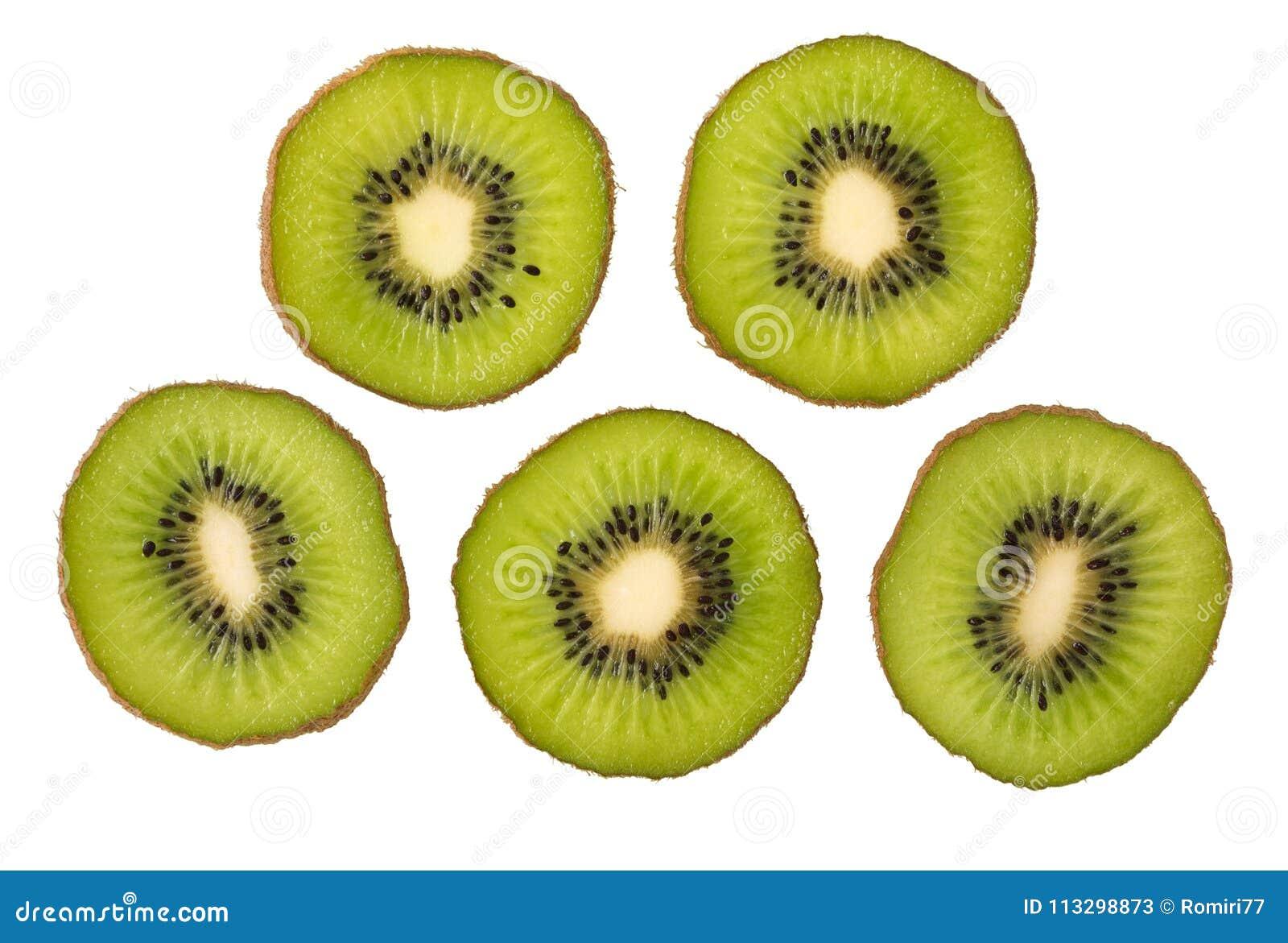 Blisko tła owoce kiwi wolny biały się nad Plasterek świeża kiwi owoc