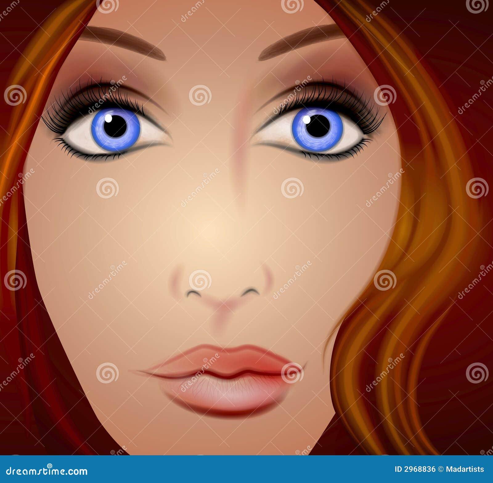 Blisko twarz kobiety brown