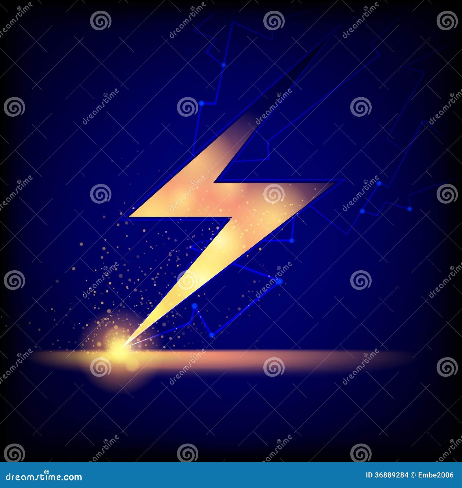 Blitz-Bolzen-Hintergrund