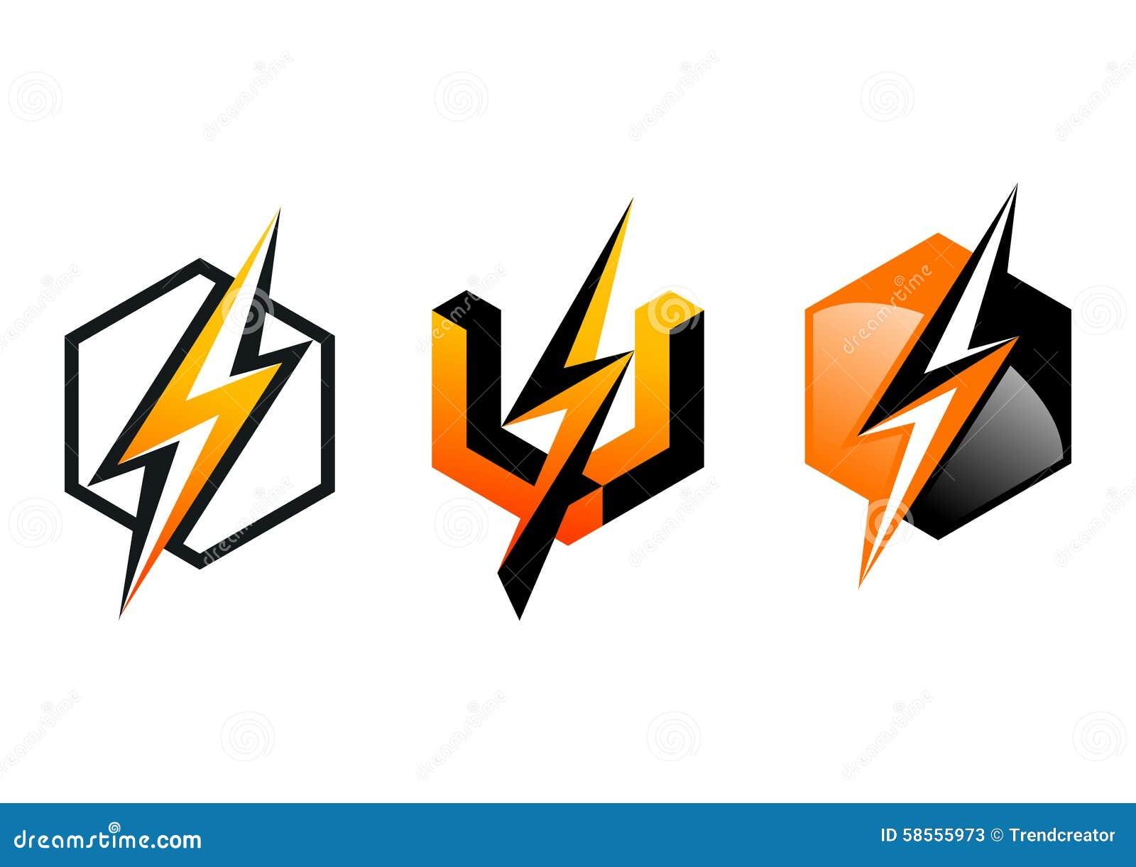 Blitz, Logo, Symbol, Blitz, Würfel, Strom, Elektrisch, Energie ...