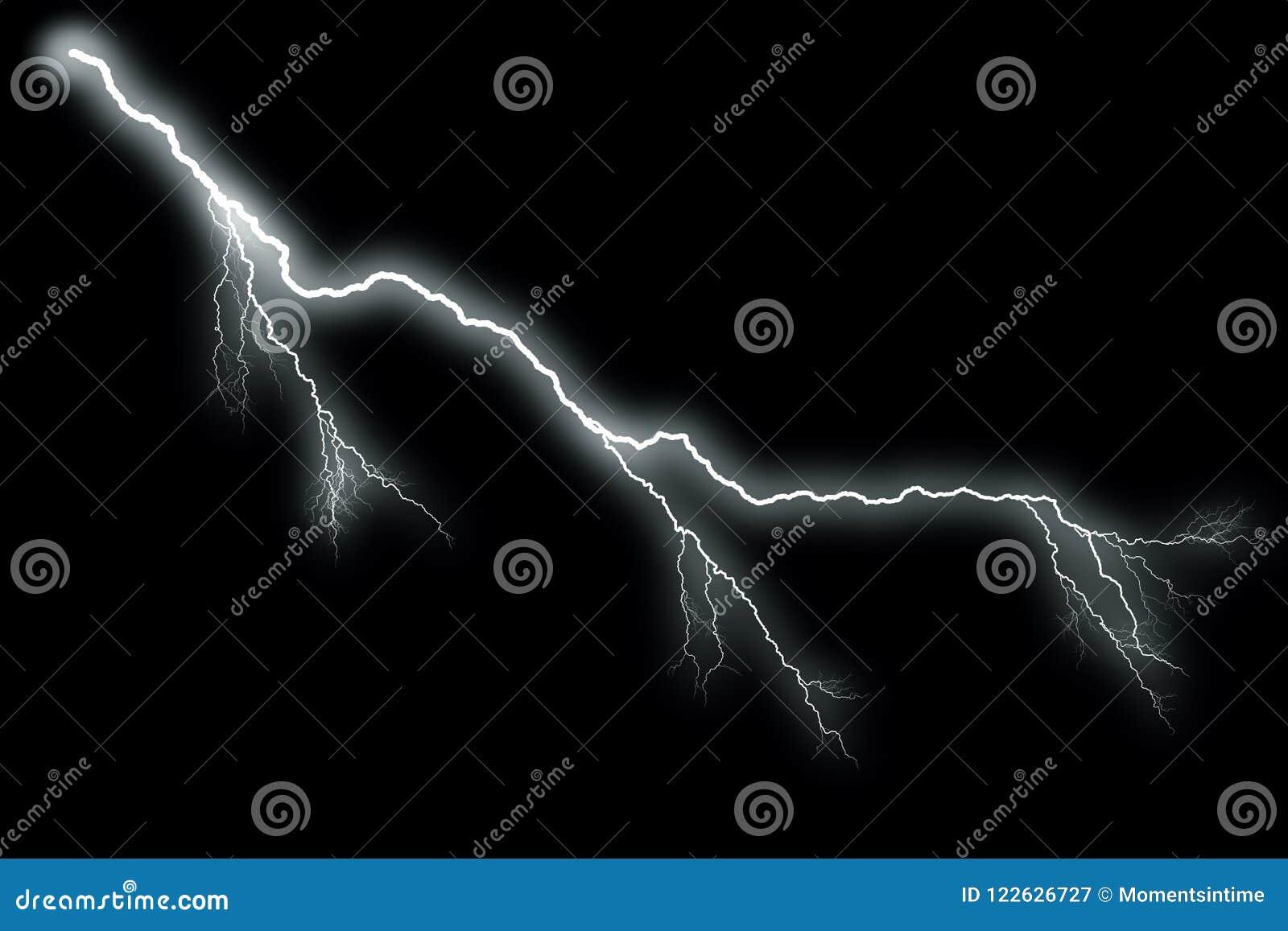 Blitz mit schwarzem Hintergrund