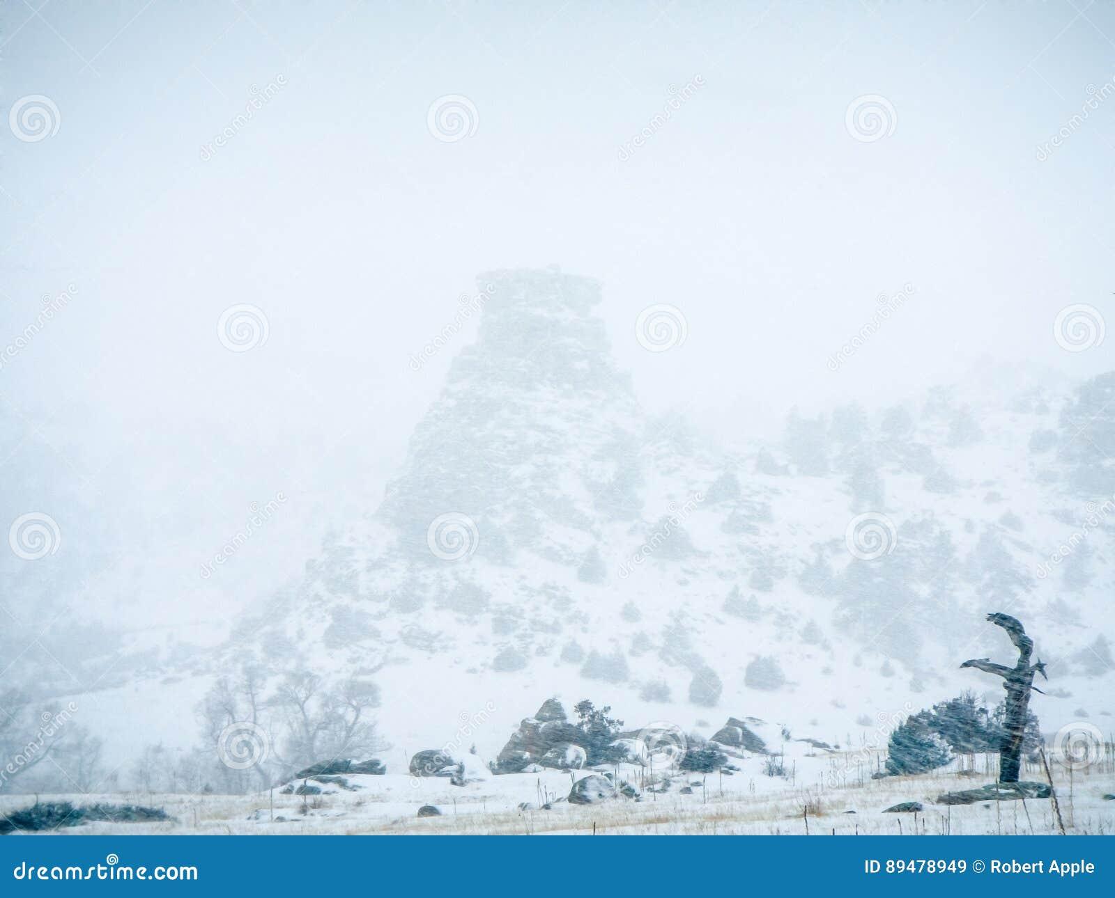 Blizzard in Hay Stack Rock